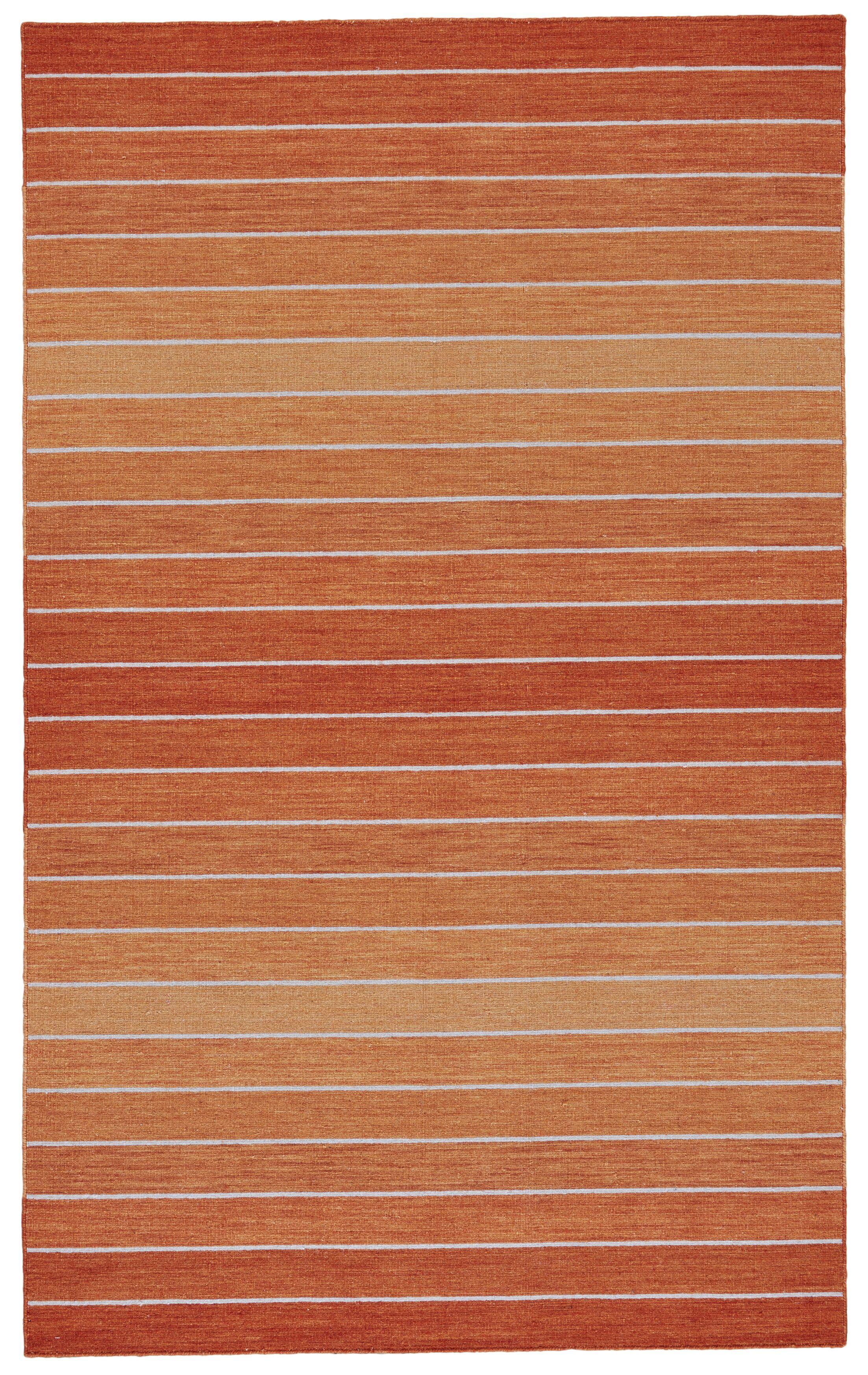 Mcdonald Hand-Loomed Orange Area Rug Rug Size: Runner 2'6