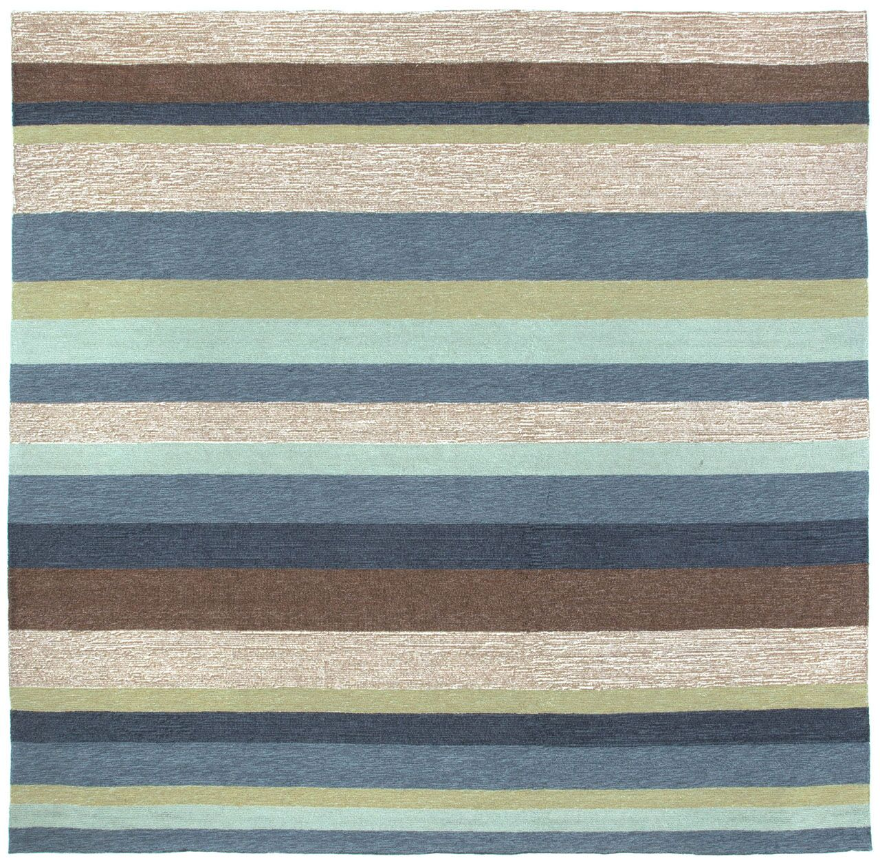 Derby Stripe Denim Indoor/Outdoor Rug Rug Size: Square 8'