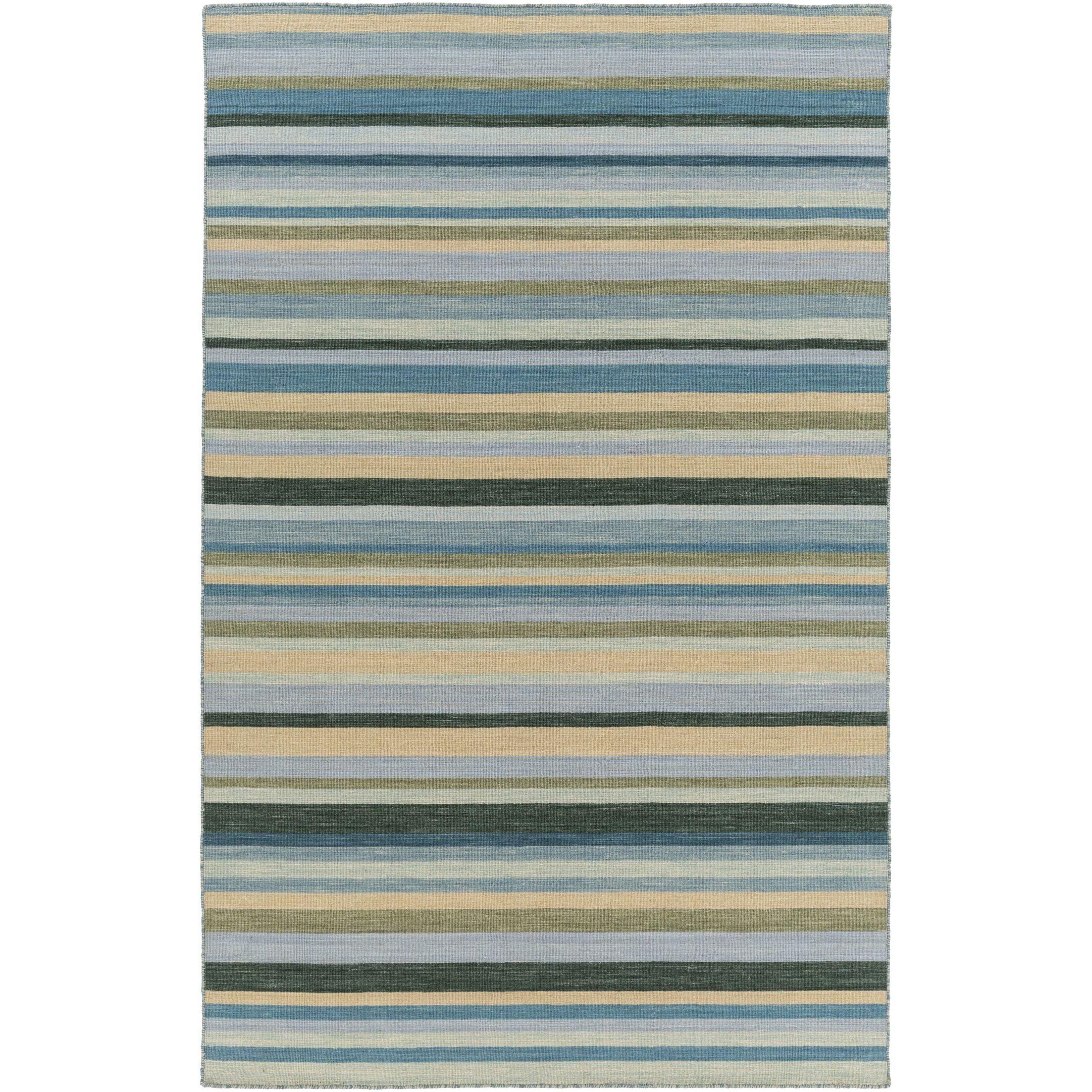 Dixon Hand-Woven Green Area Rug Rug Size: Rectangle 5' x 8'