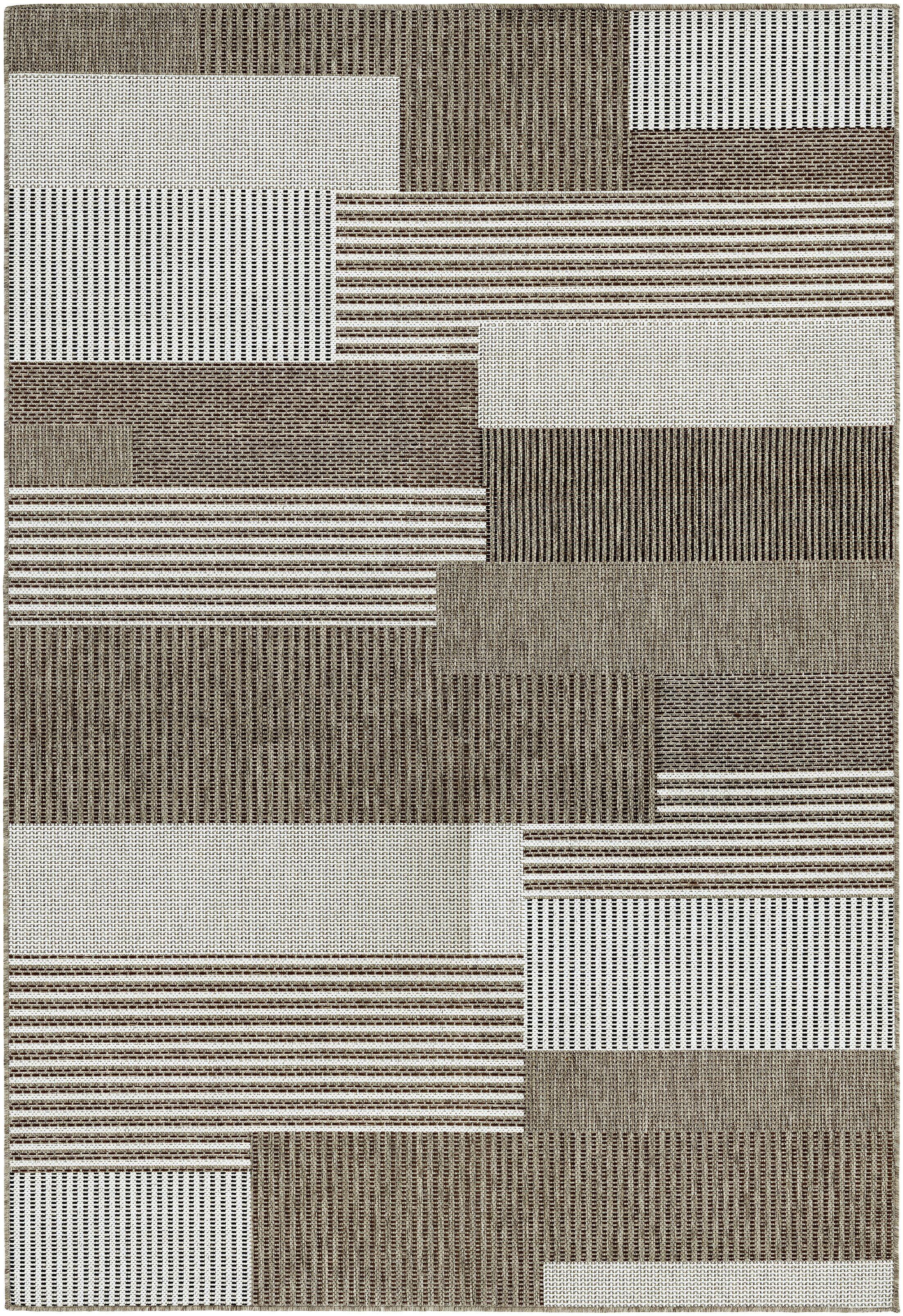 Saldana Brown/Ivory Indoor/Outdoor Area Rug Rug Size: Rectangle 5'10