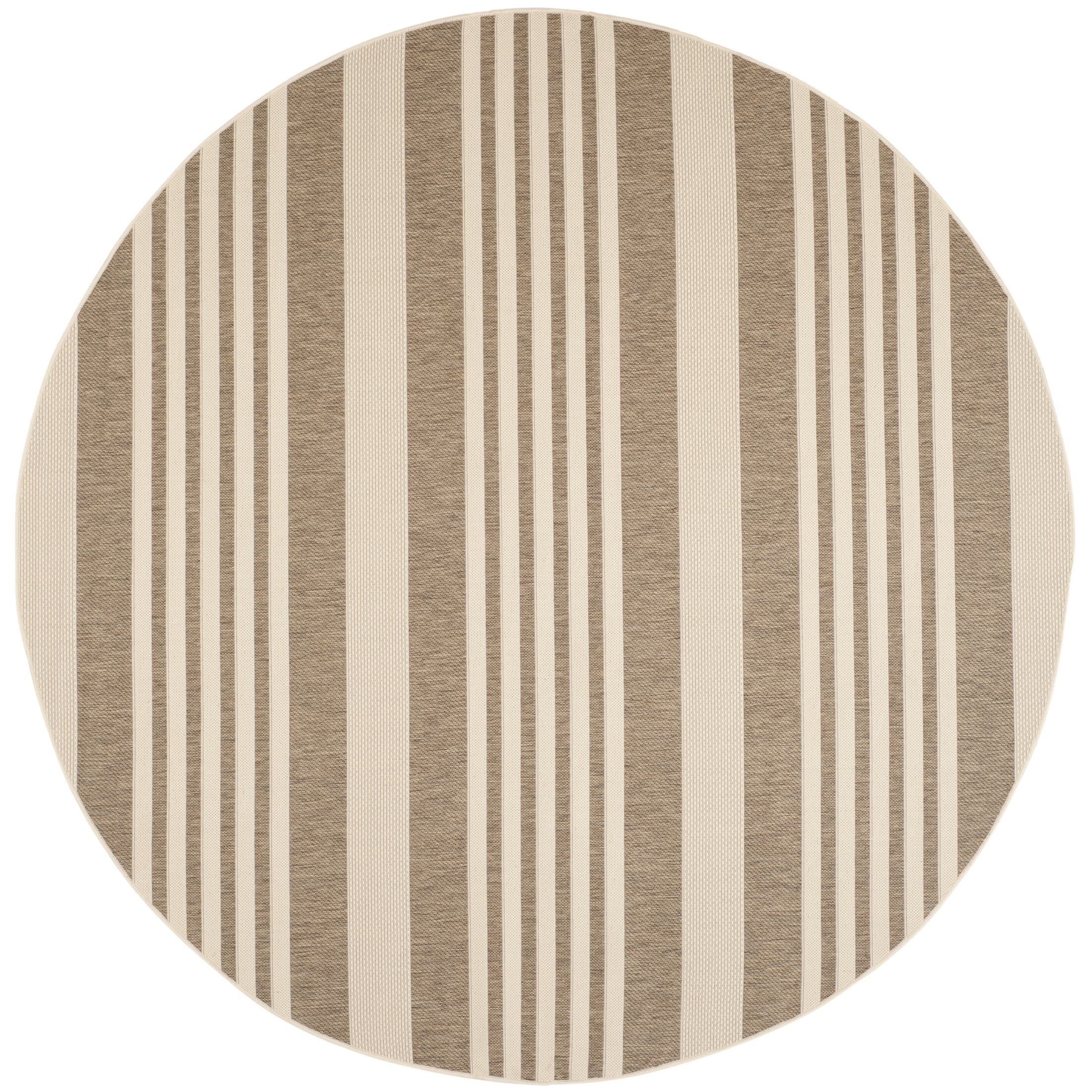 Burwinda Brown & Bone Outdoor Area Rug Rug Size: Rectangle 5'3