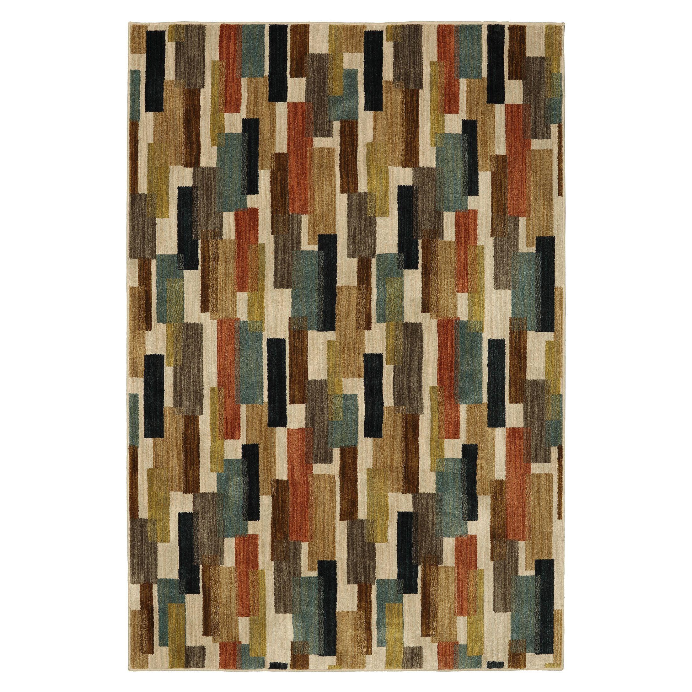 Alva Tiles Brown/Beige Area Rug Rug Size: 5' x 8'