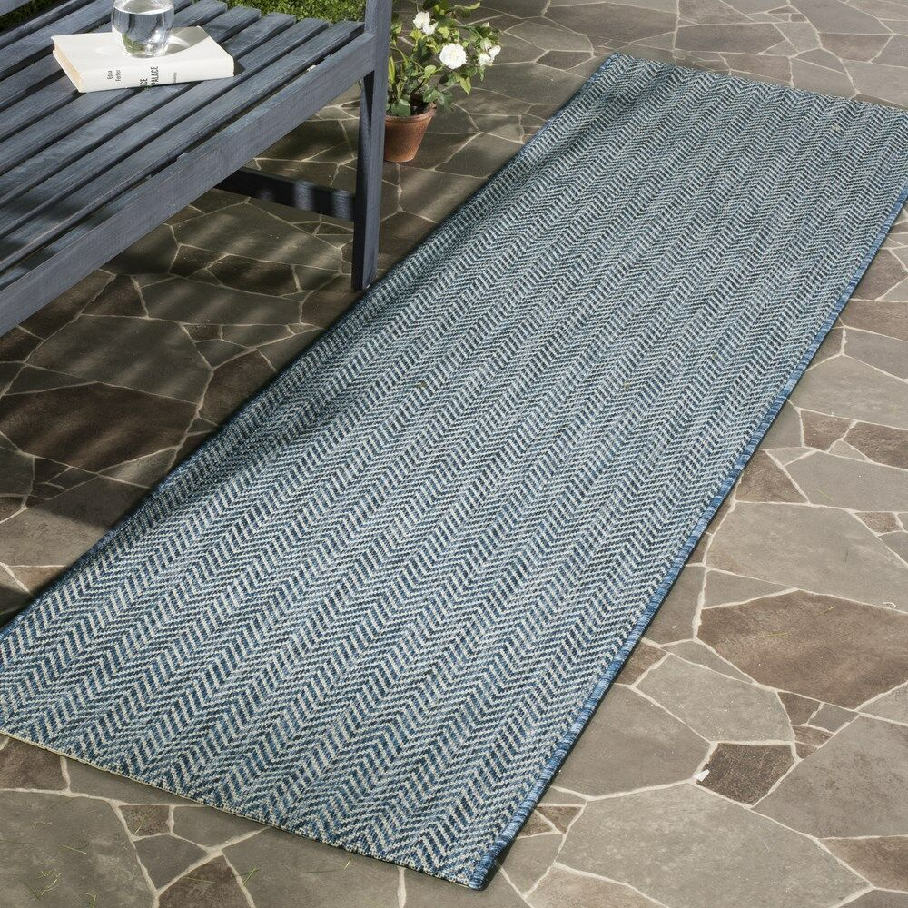 Mullen Navy / Gray Area Rug Rug Size: Rectangle 5'3