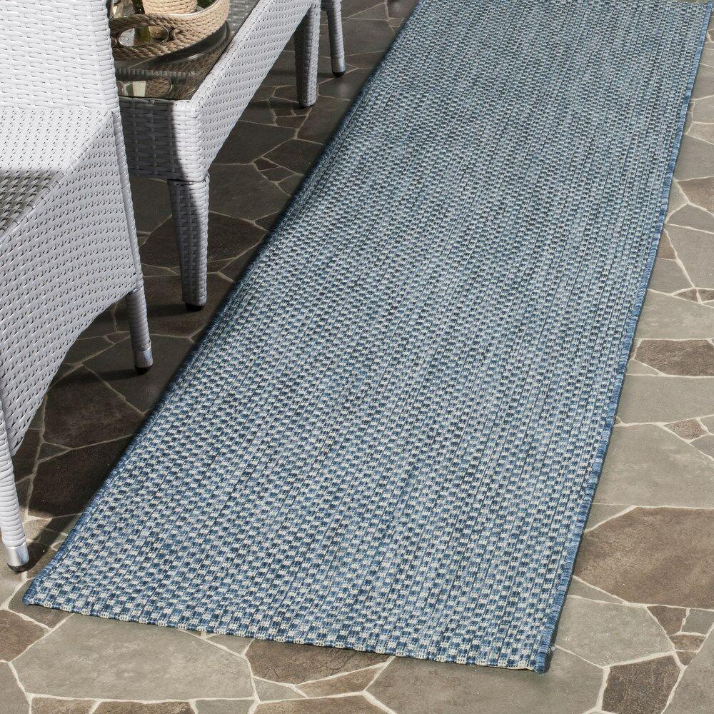 Mullen Navy Bule / Gray Indoor / Outdoor Area Rug Rug Size: Rectangle 6'7