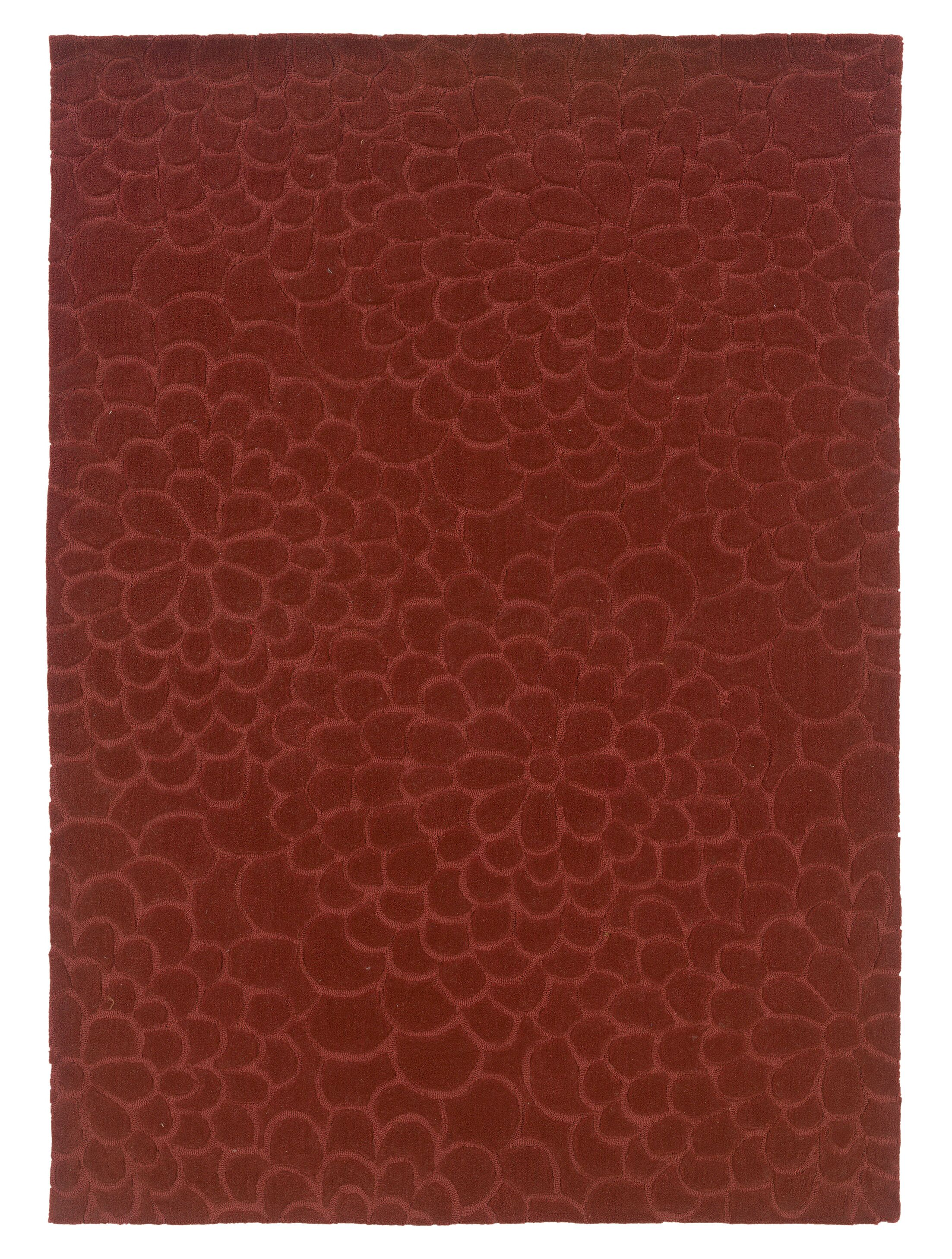 Beaded Hand-Tufted Rust Area Rug Rug Size: Rectangle 8' x 10'