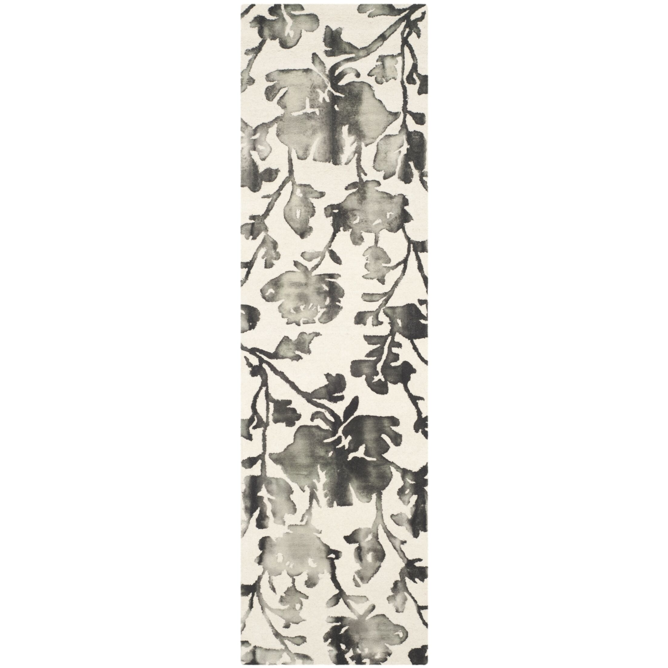 Brinkworth Hand Tufted Wool Ivory/Charcoal Area Rug Rug Size: Runner 2'3