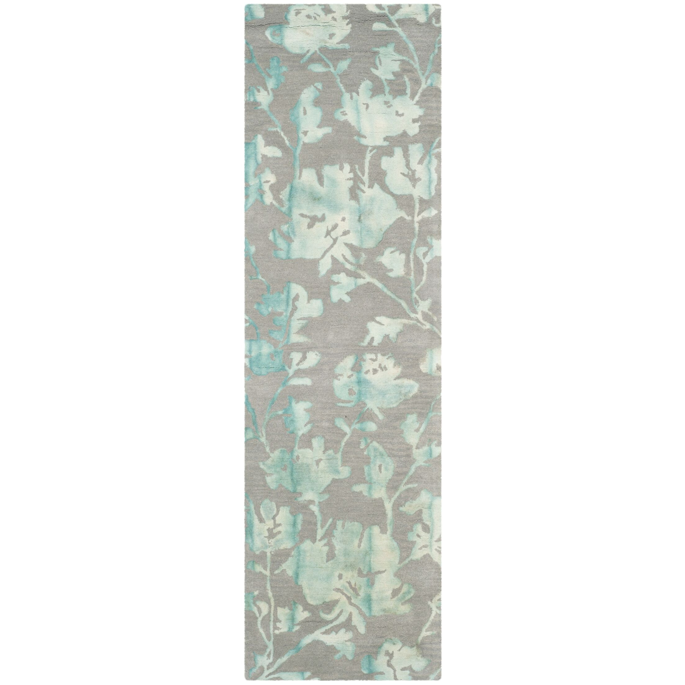 Danny Gray/Turquoise Area Rug Rug Size: Runner 2'3