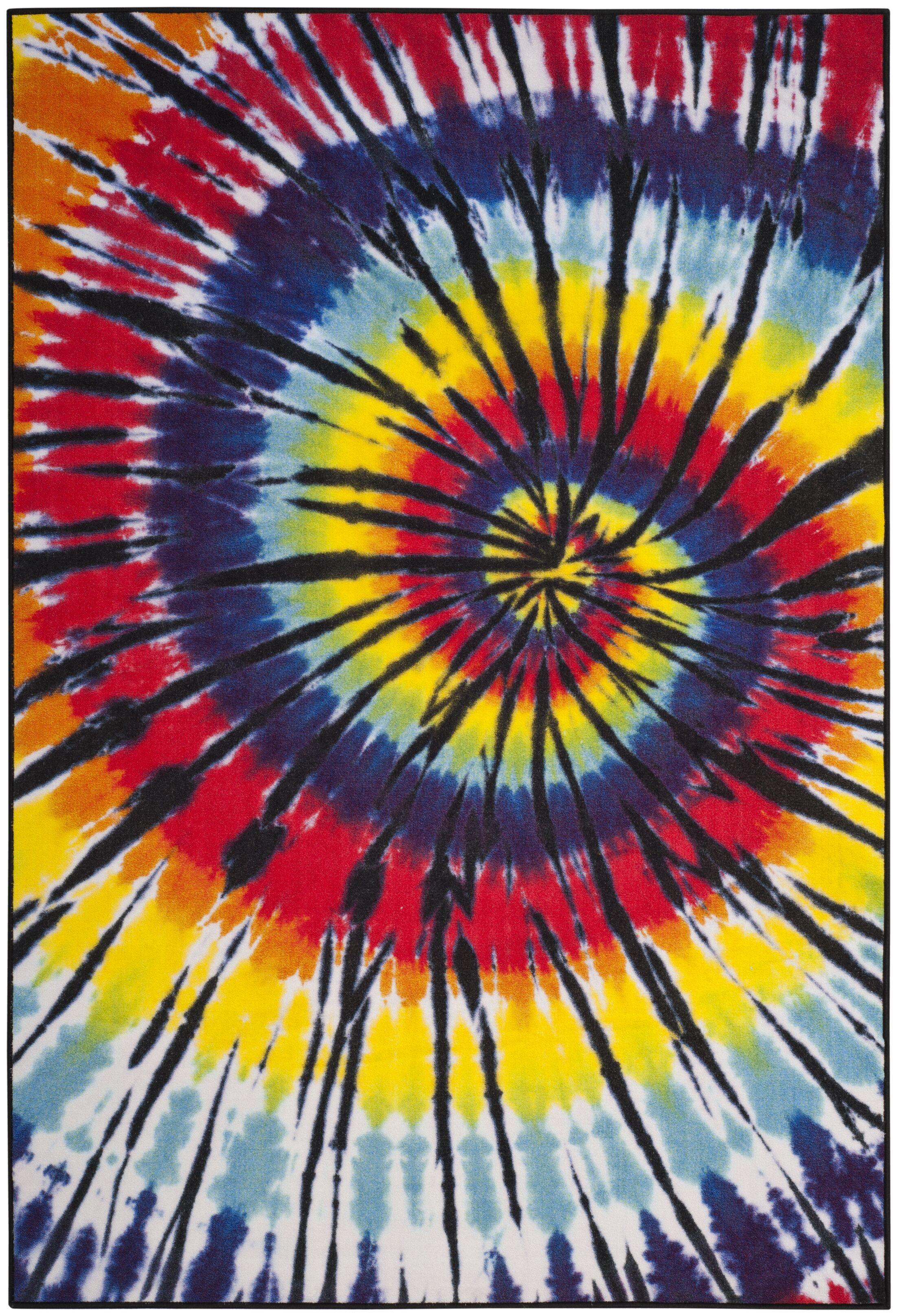 Dean Paint Brush Fuchsia/Yellow Area Rug Rug Size: Rectangle 3' x 5'