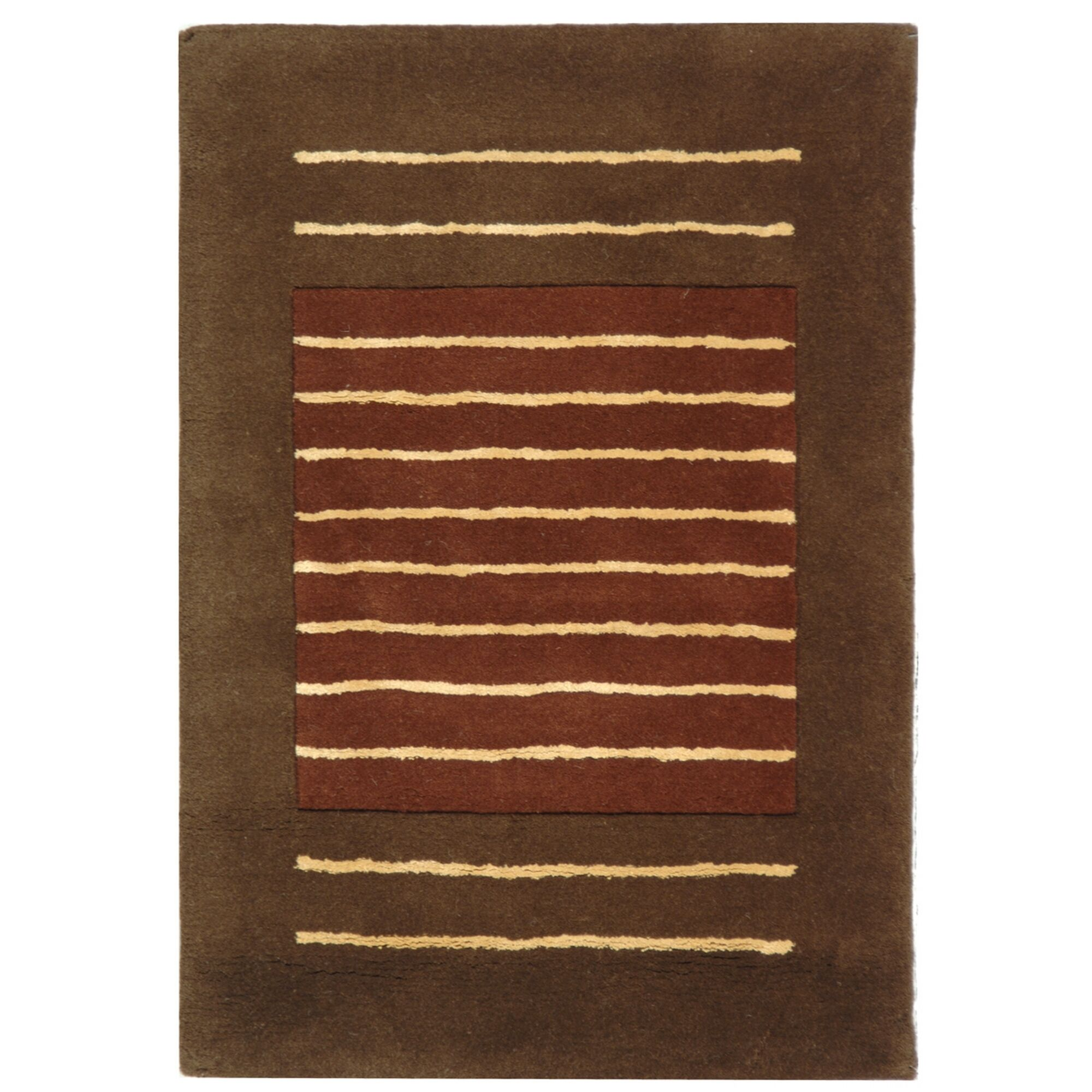 Chidi Rust/Brown Area Rug Rug Size: Runner 2'6