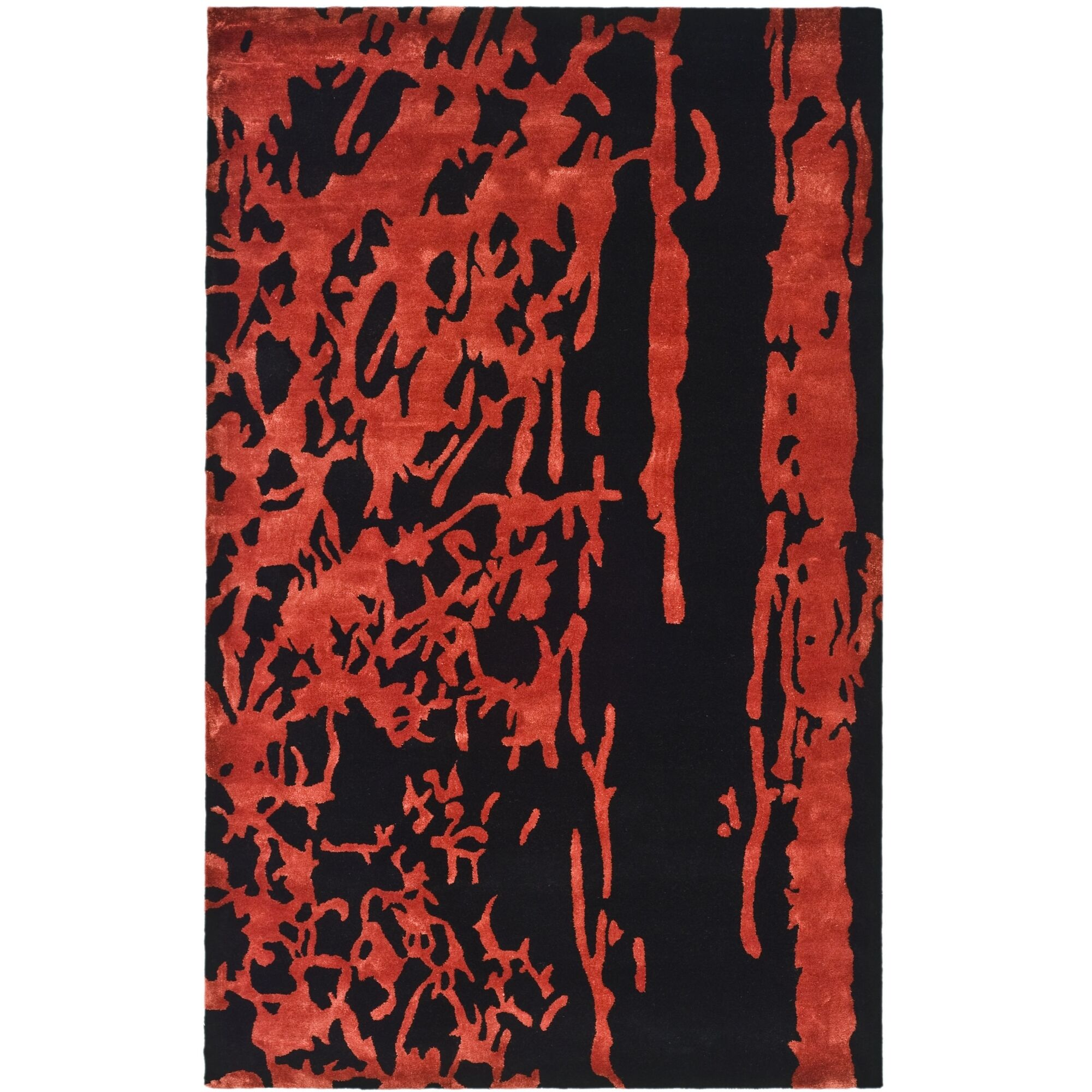 Chidi Black/Red Area Rug Rug Size: Rectangle 8'3