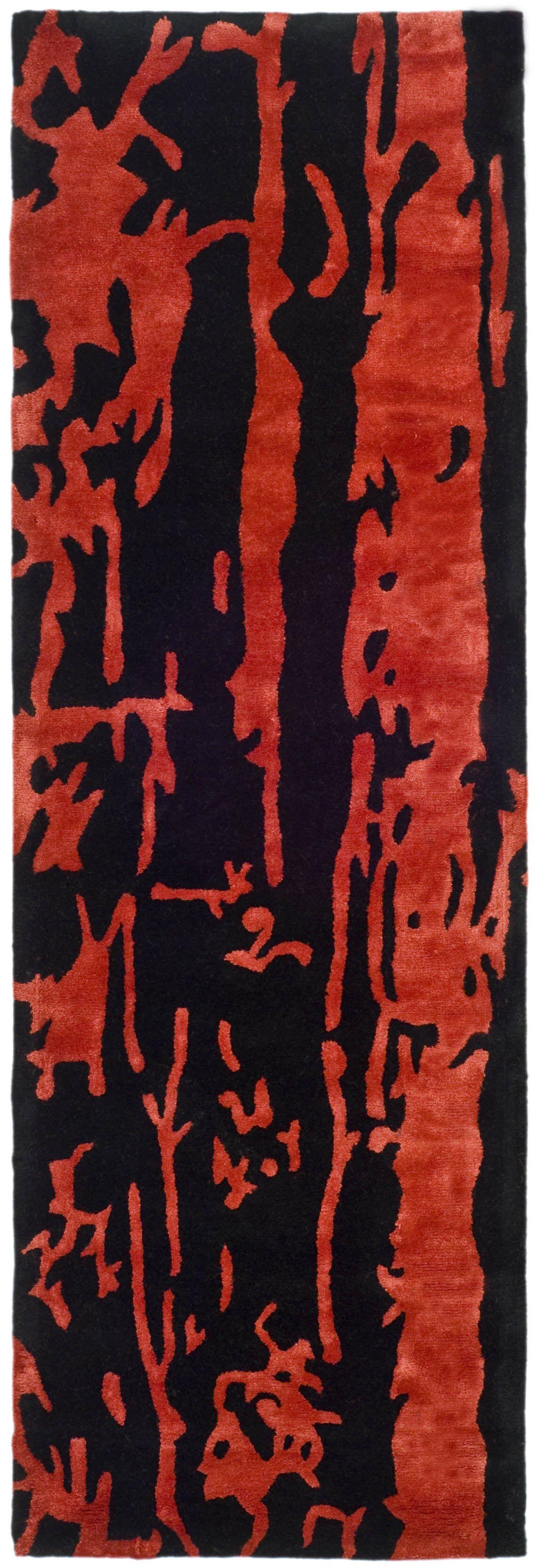 Chidi Black/Red Area Rug Rug Size: Runner 2'6