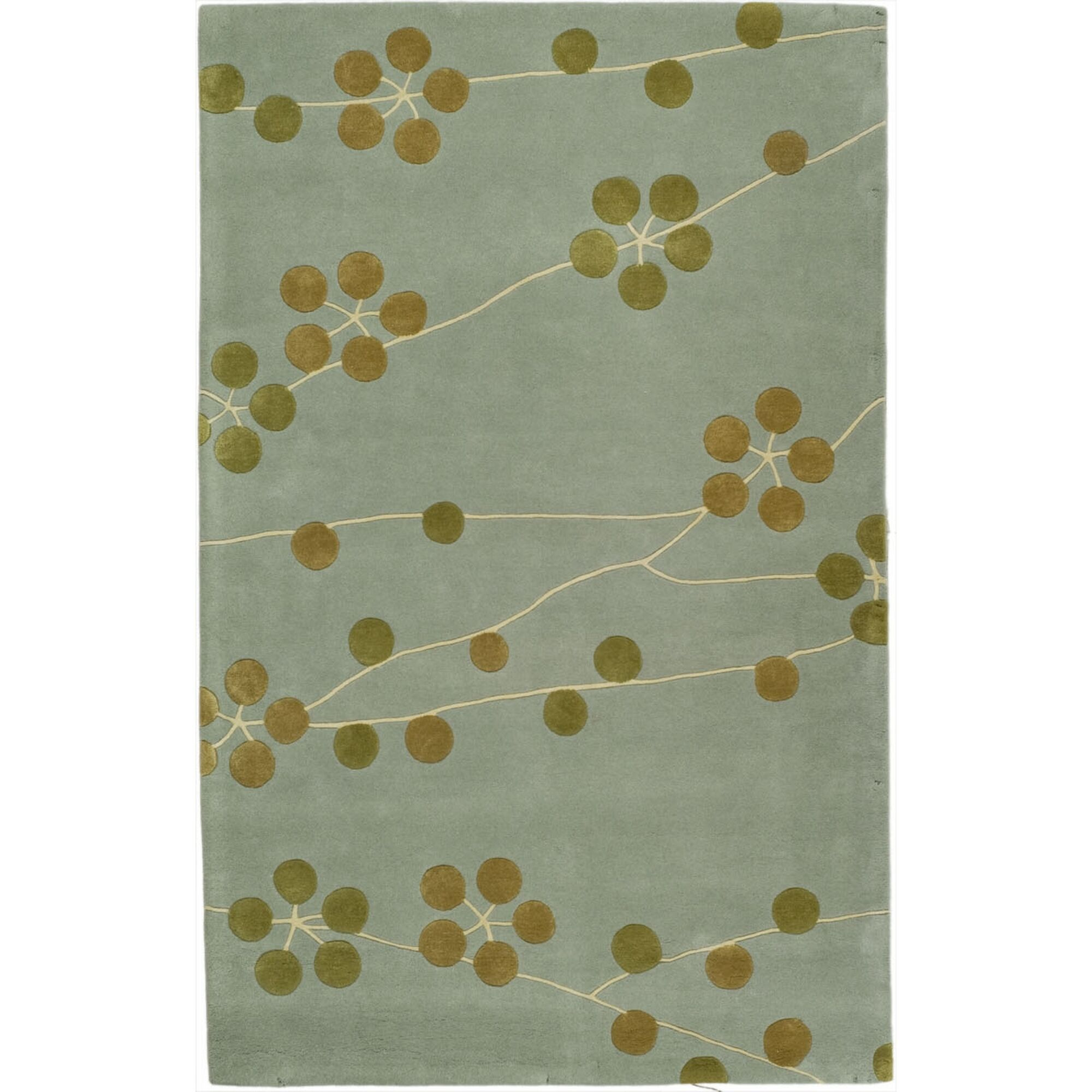 Armstrong Light Blue/Gold Area Rug Rug Size: Rectangle 5' x 8'