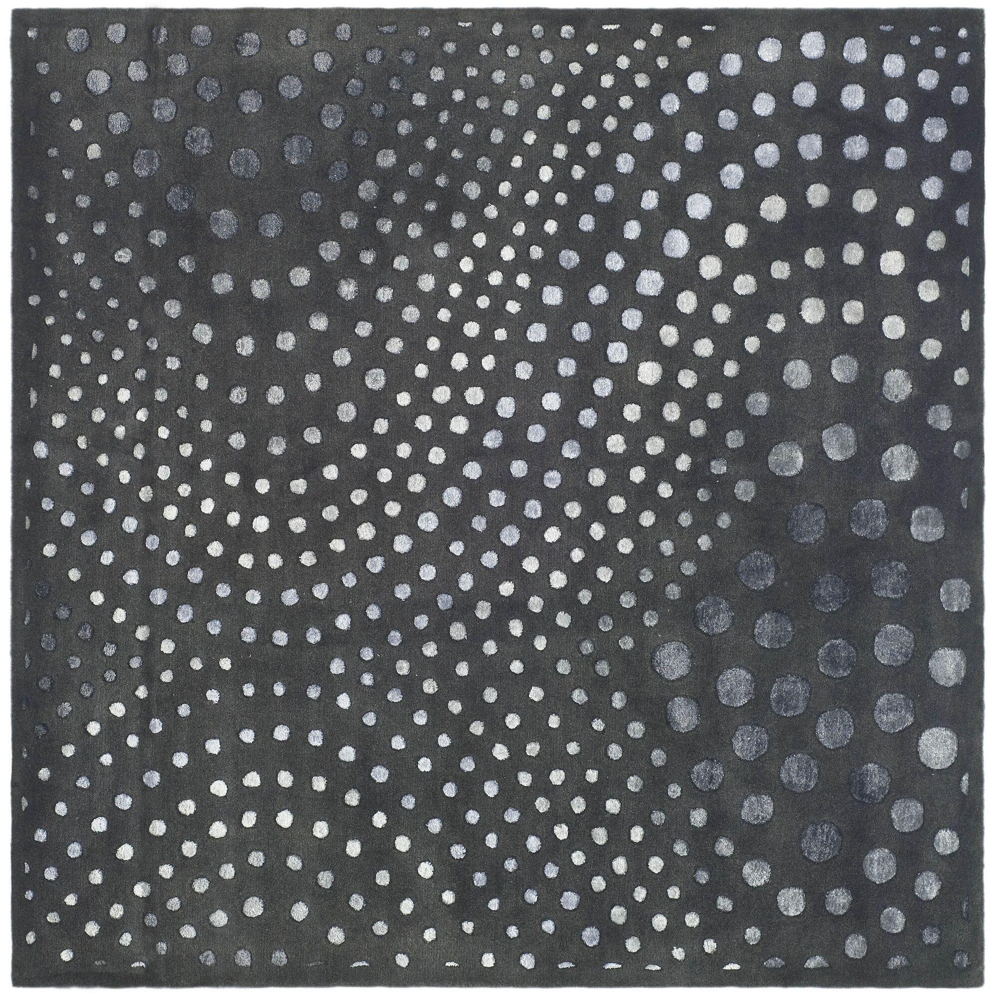 Chidi Dark Gray Area Rug Rug Size: Square 8'