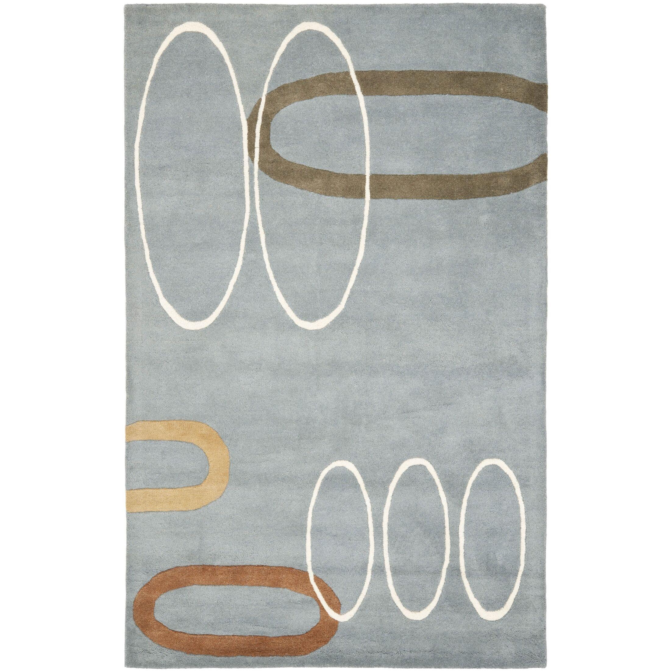Chidi Dark Blue / Dark Multi Contemporary Rug Rug Size: Rectangle 7'6