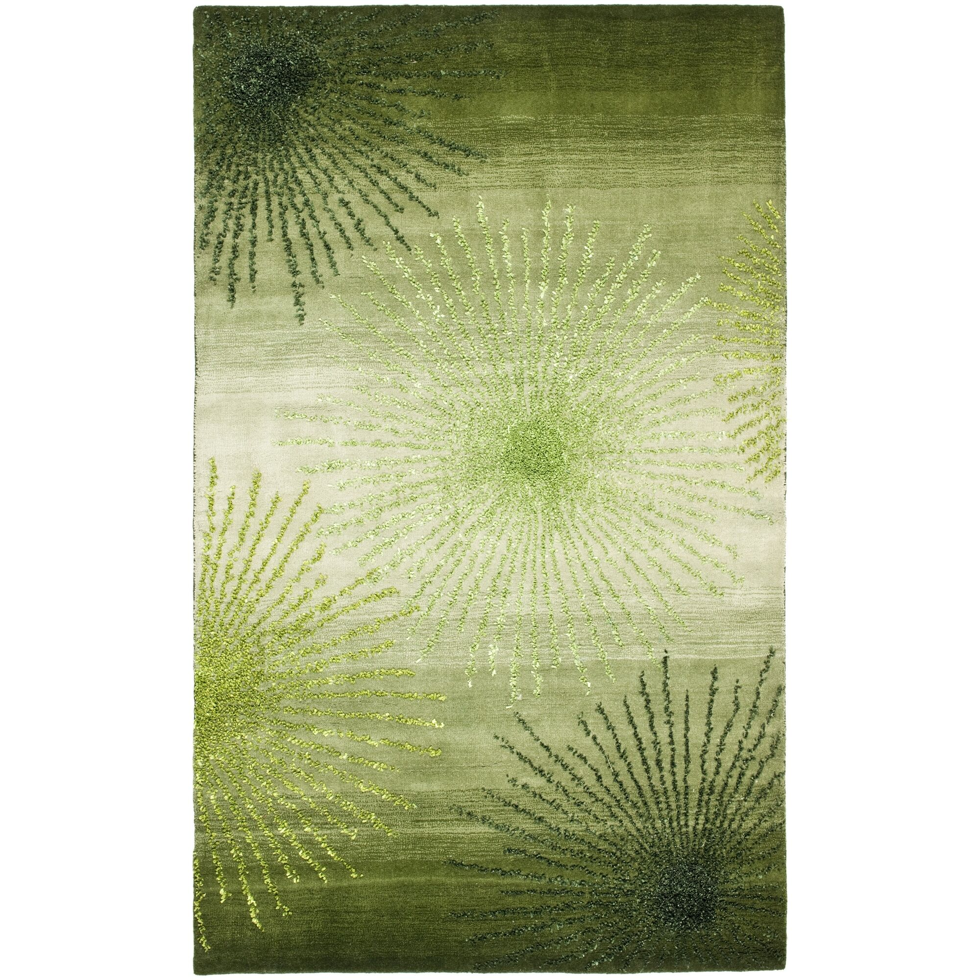 Chidi Green Area Rug Rug Size: Rectangle 3'6