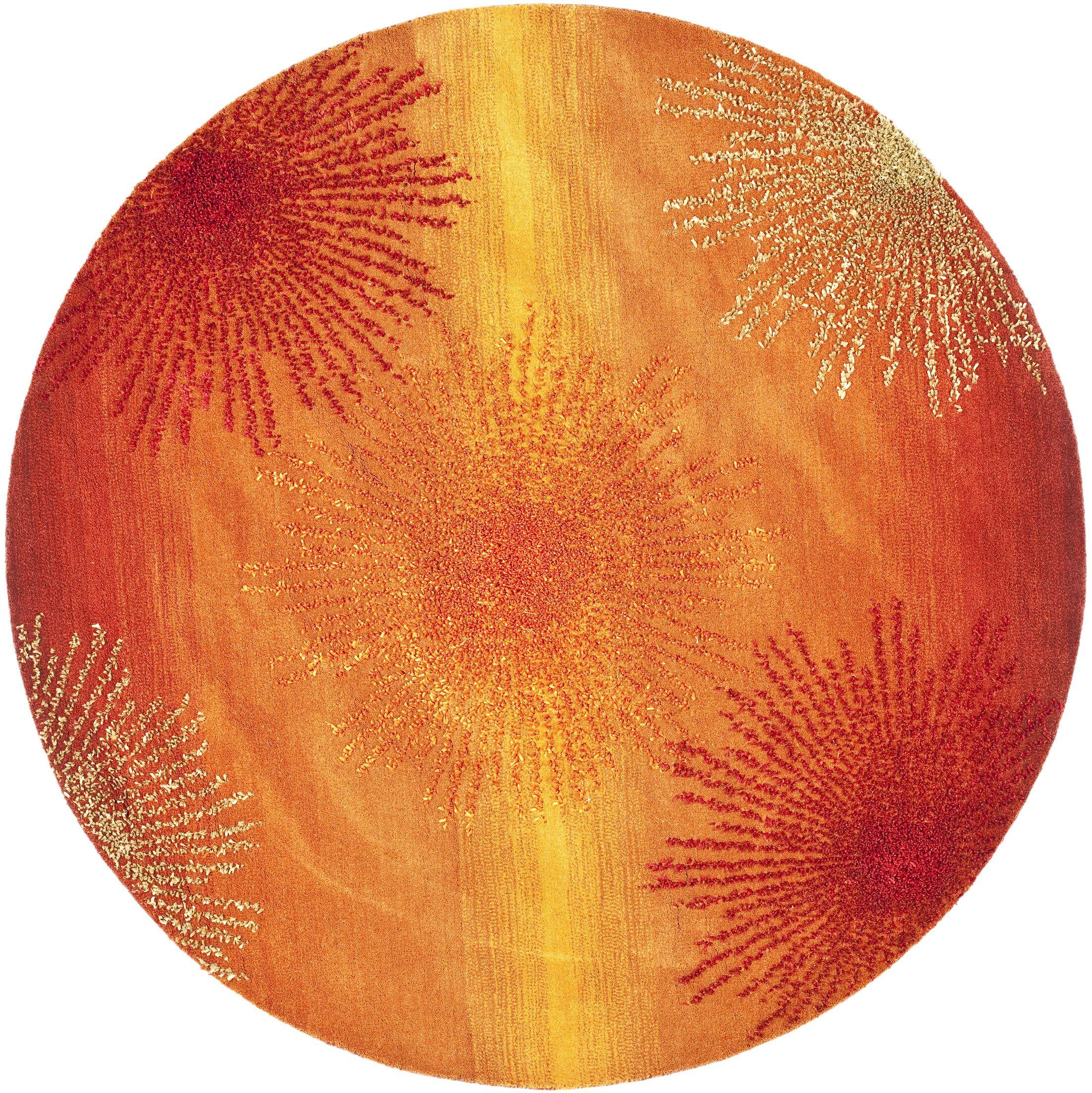 Chidi Rust/Orange Area Rug Rug Size: Rectangle 8'3