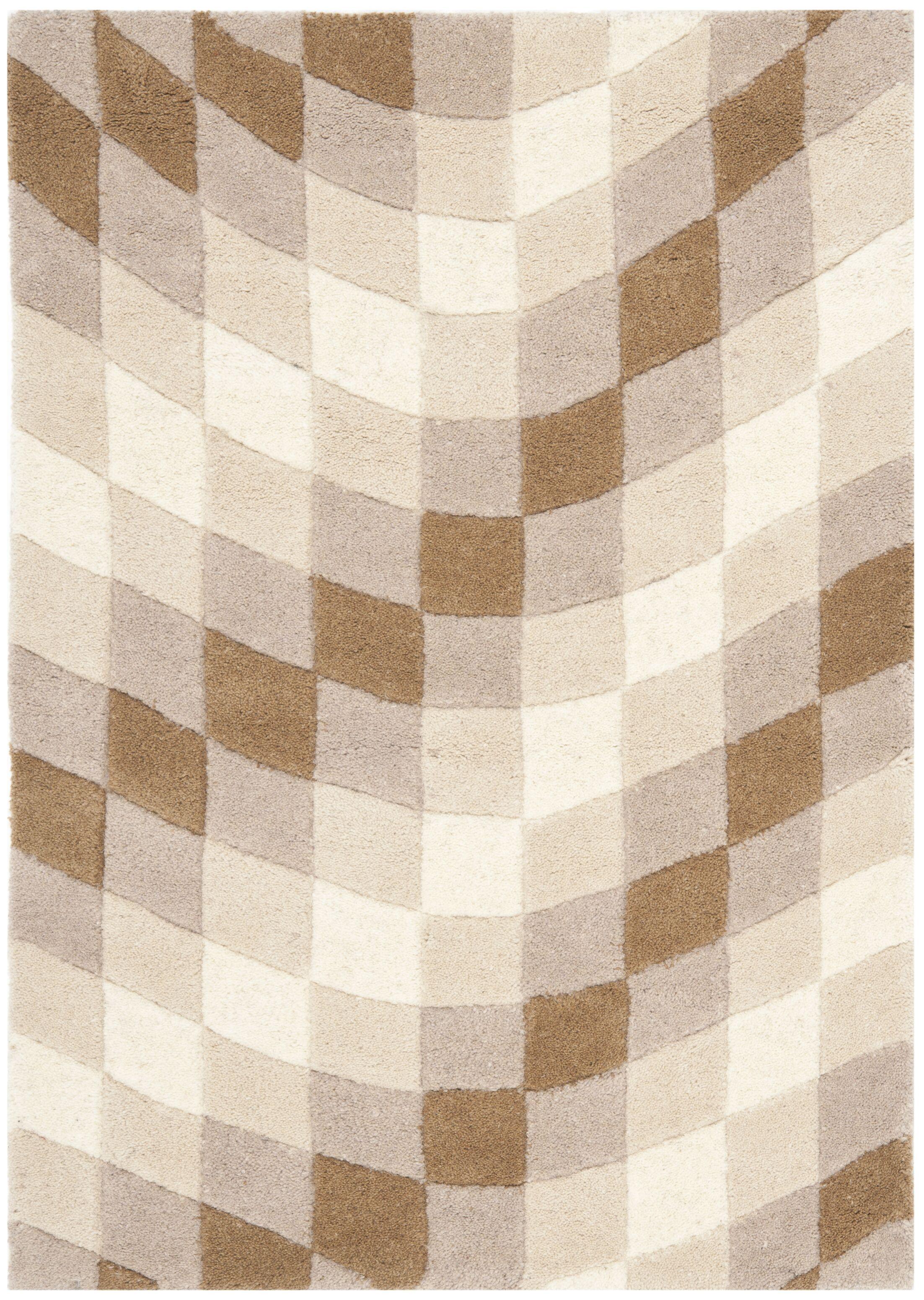 Woodburn Sand & Ivory Area Rug Rug Size: Rectangle 3'6