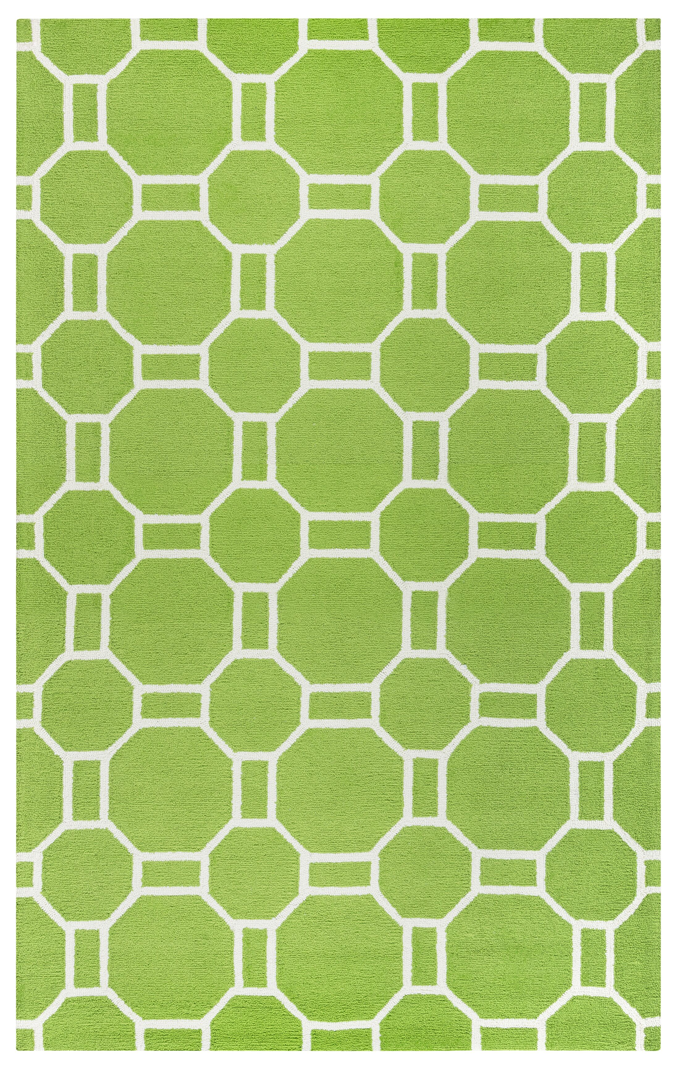 Evangeline Hand-Tufted Lime Indoor/Outdoor Area Rug Size: Rectangle 7'6