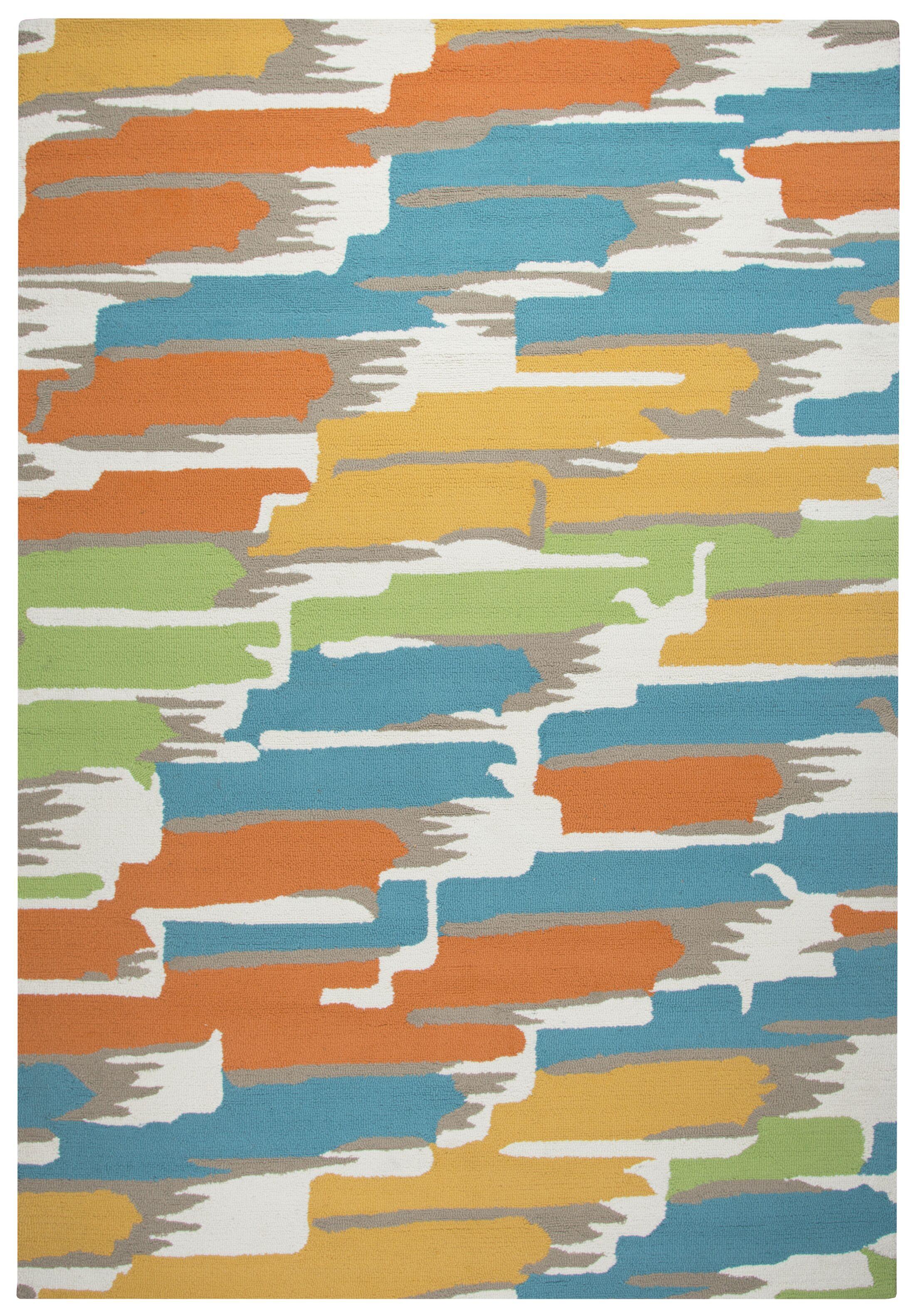 Evangeline Water Resistant Hand-Tufted Indoor/Outdoor Area Rug Size: Rectangle 9' x 12'