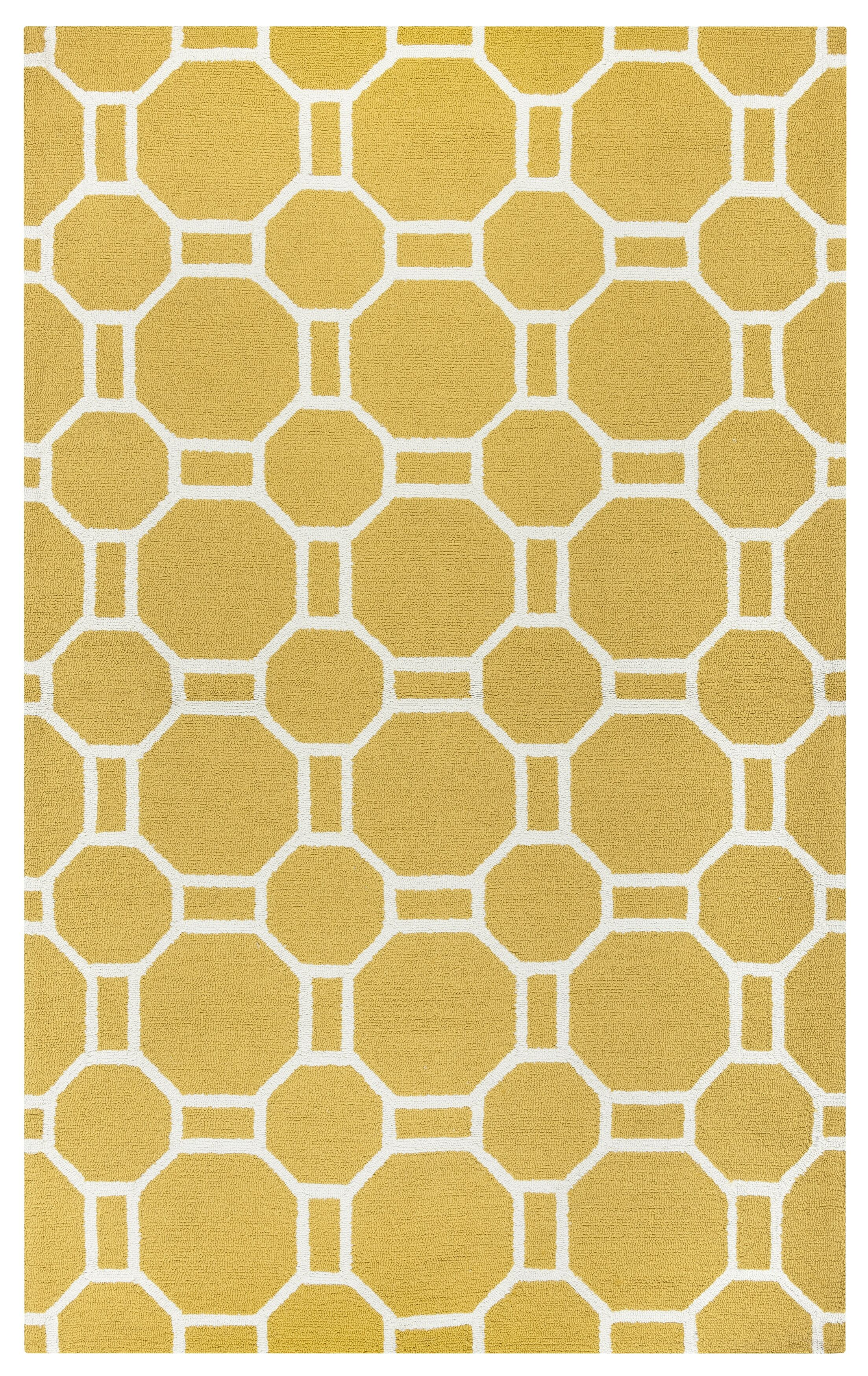 Evangeline Hand-Tufted Gold Indoor/Outdoor Area Rug Size: Rectangle 5' x 7'6