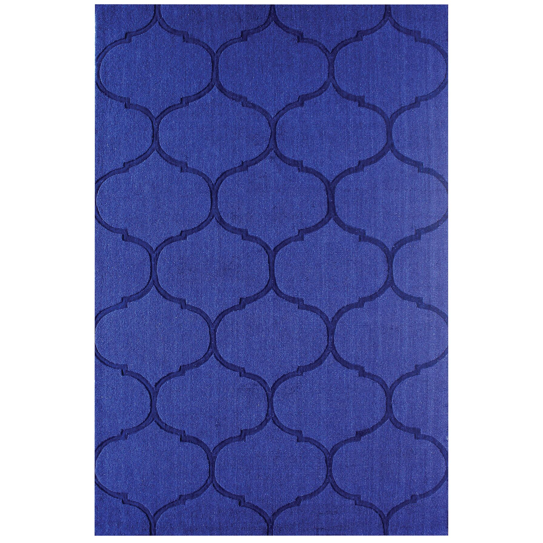 DeMastro Hand-Woven Blue Wool Area Rug Rug Size: Rectangle 9' x 12'
