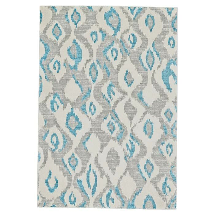Arely Gray/Blue Area Rug Rug Size: Rectangle 10' x 13'2