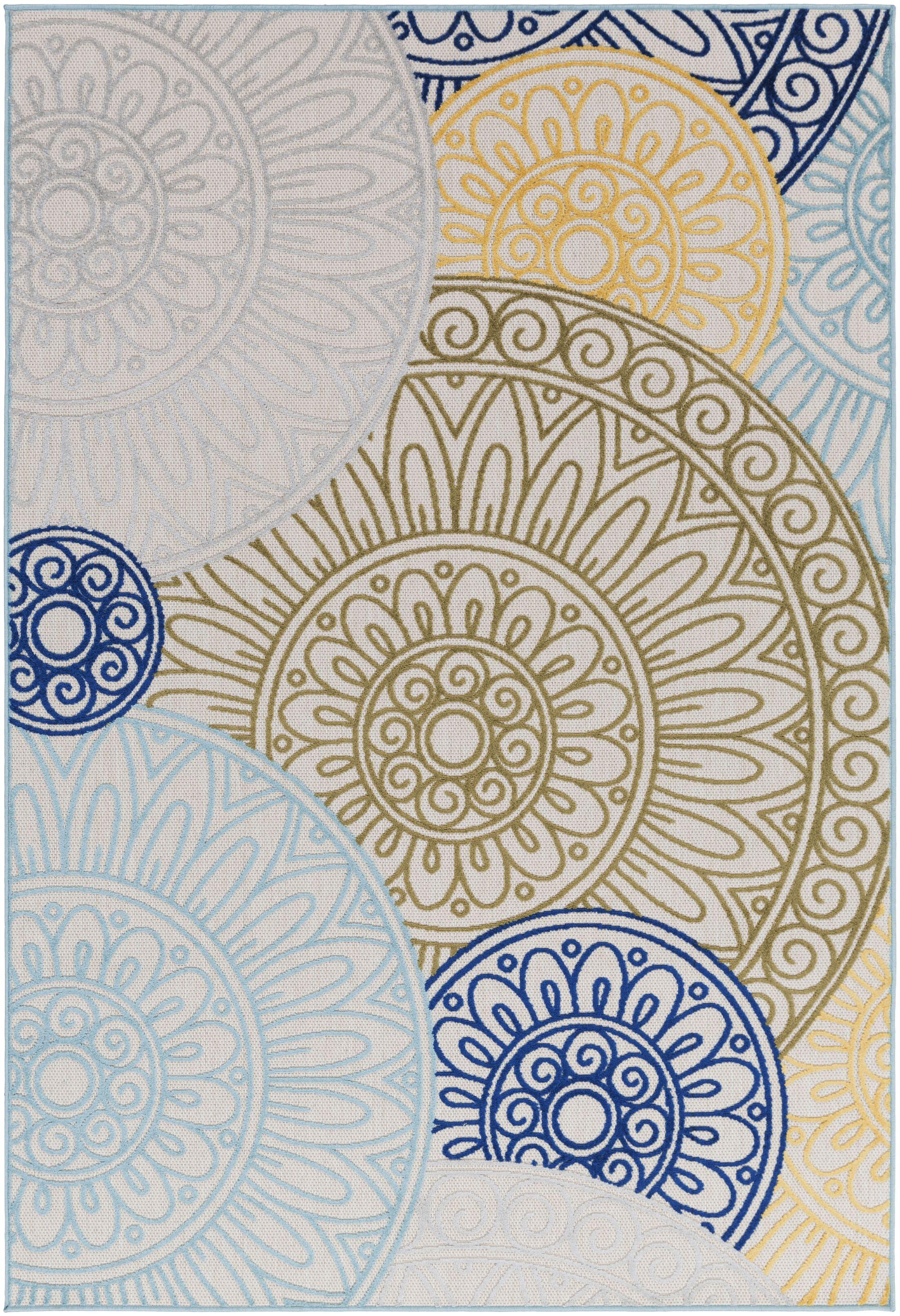 Dorinda Green/Blue Indoor/Outdoor Area Rug Rug Size: Rectangle 7' 10