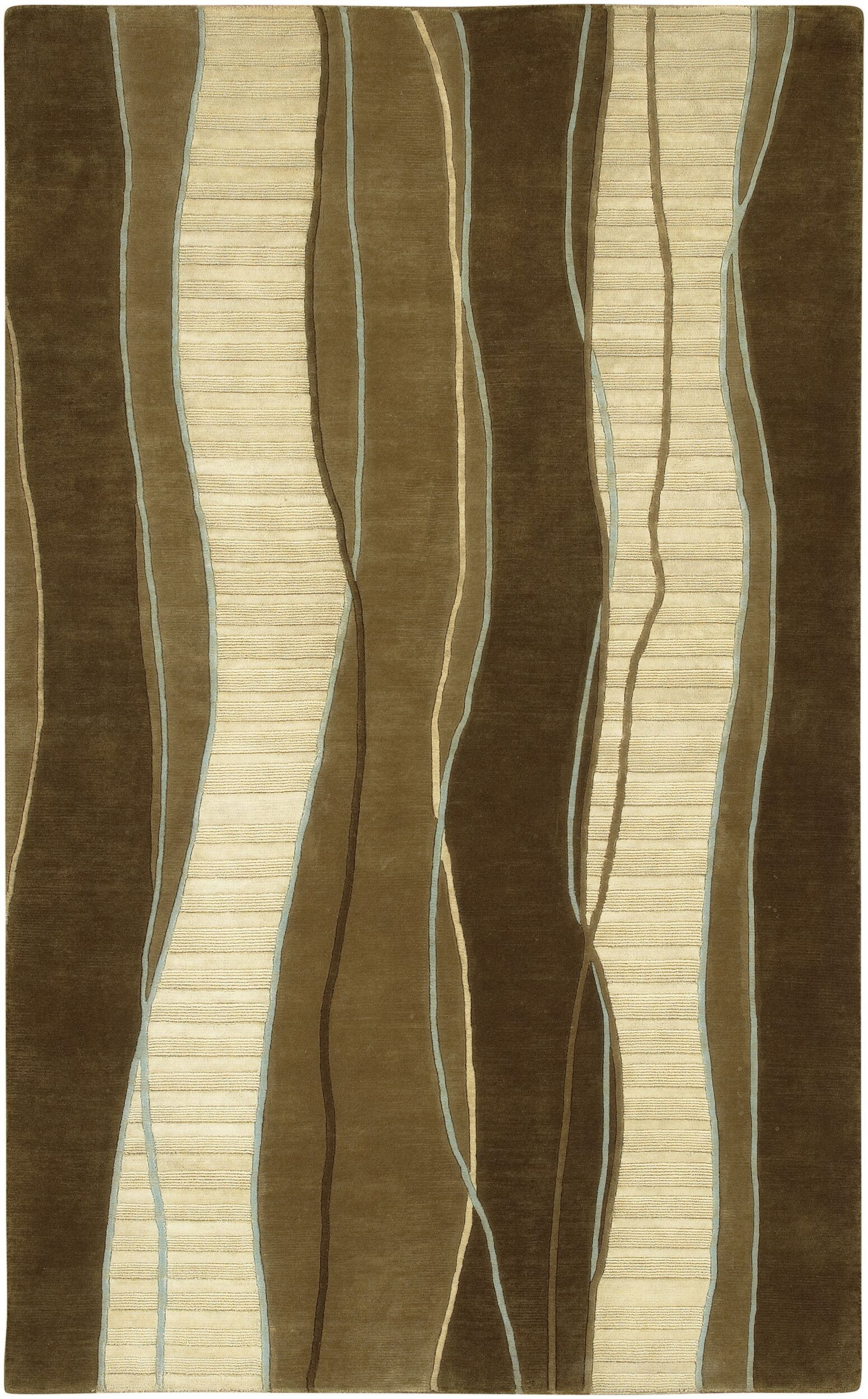 Hierius Brown Area Rug Rug Size: Rectangle 9' x 13'