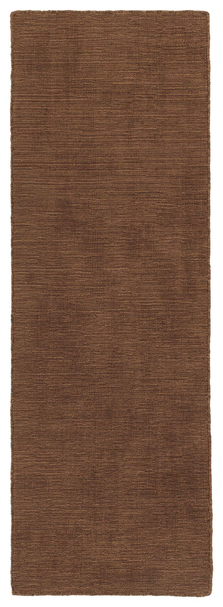 Allibert Hand-Loomed Light Brown Indoor/Outdoor Area Rug Rug Size: Runner 2' x 6'
