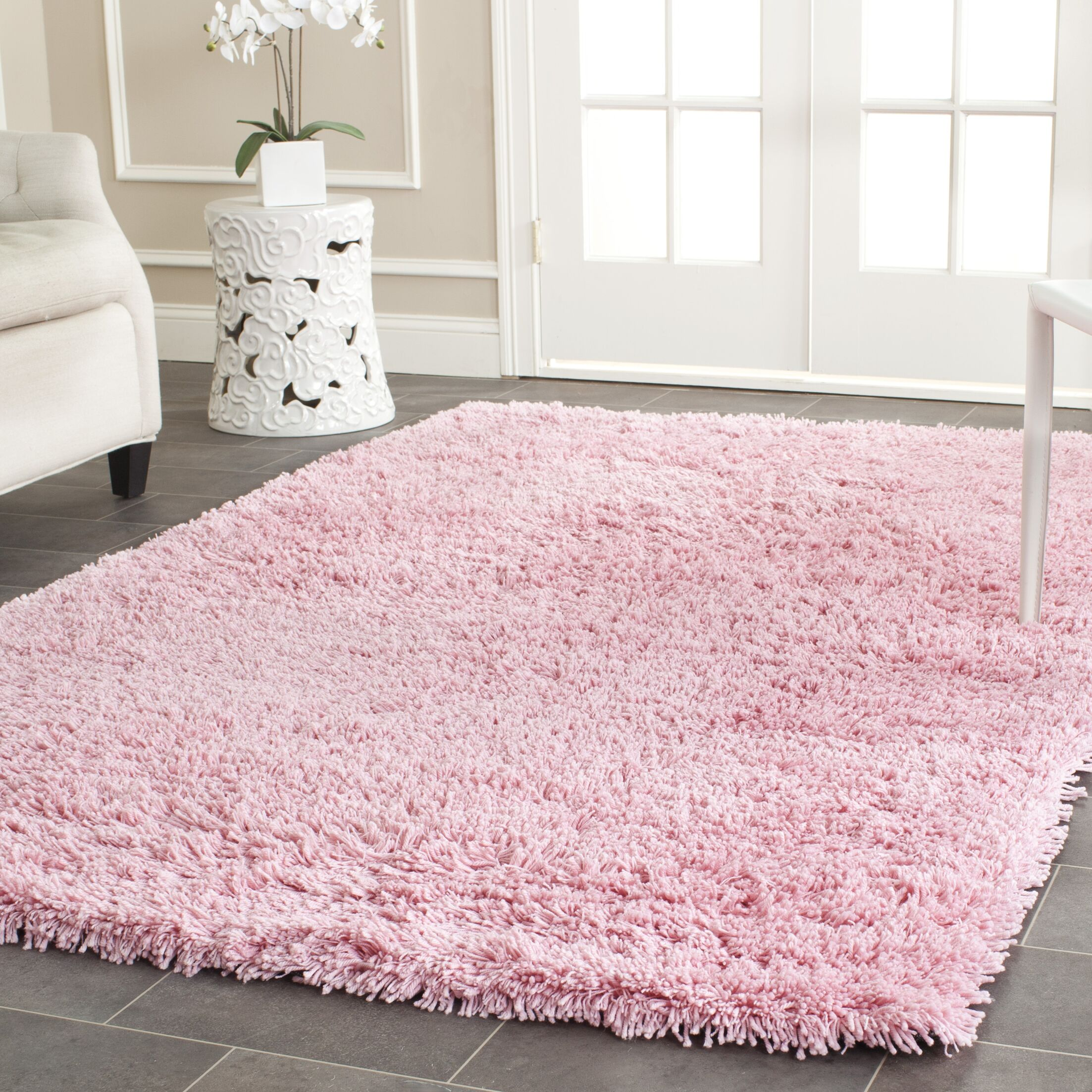 Cody Hand-Loomed Pink Kids Rug Rug Size: Rectangle 6' x 9'