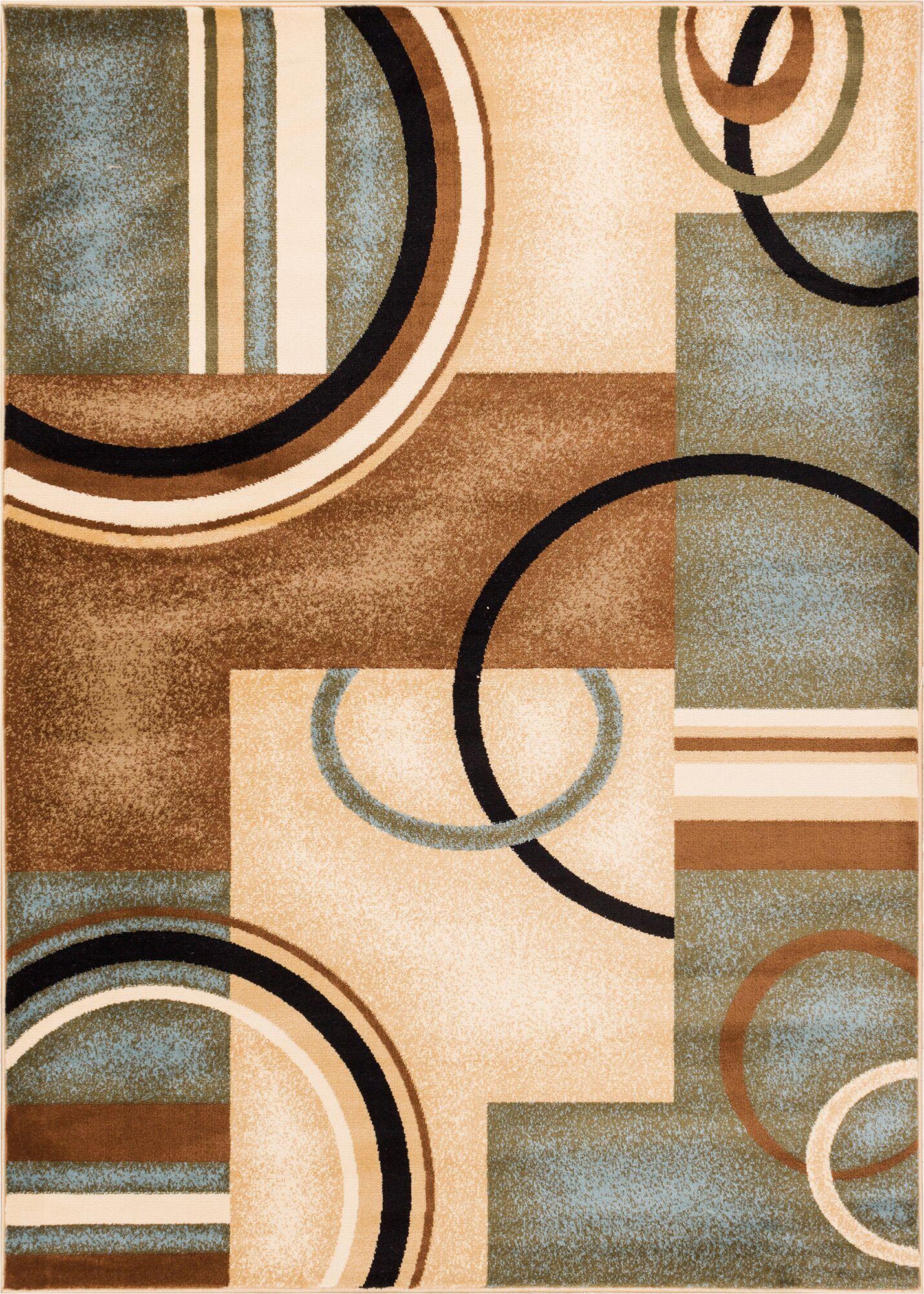 Gehl Modern Blue Arcs & Shapes Area Rug Rug Size: Rectangle 6'7