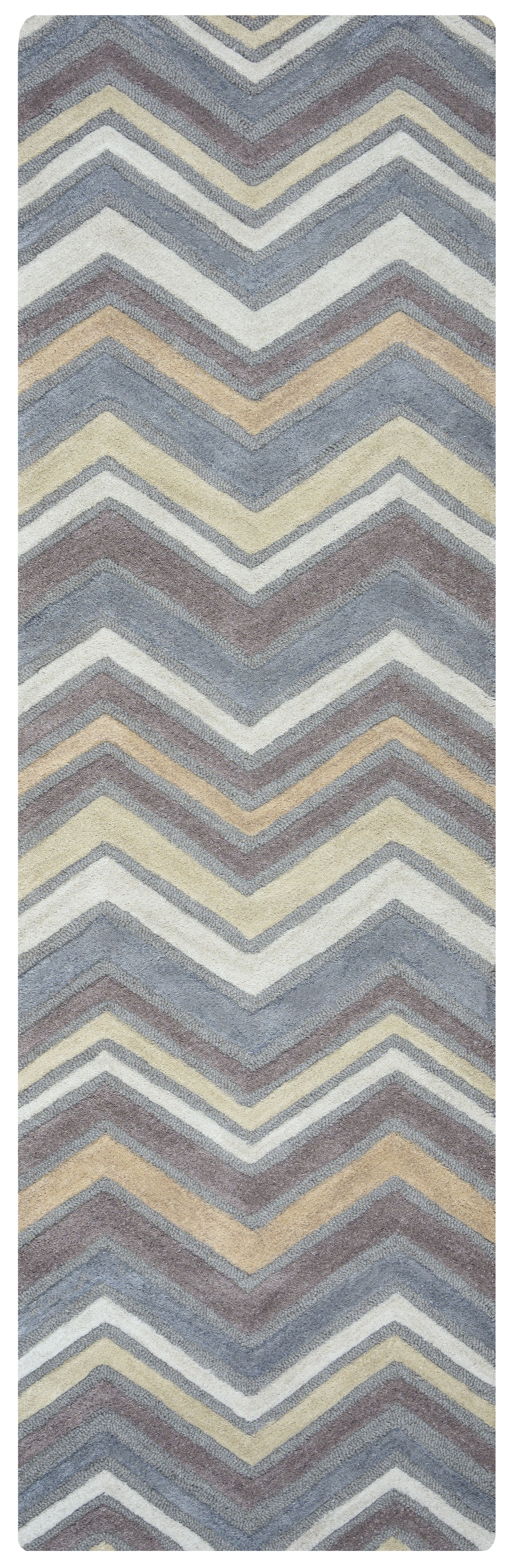 Eilidh Hand-Tufted Gray Area Rug Rug Size: Runner 2'6