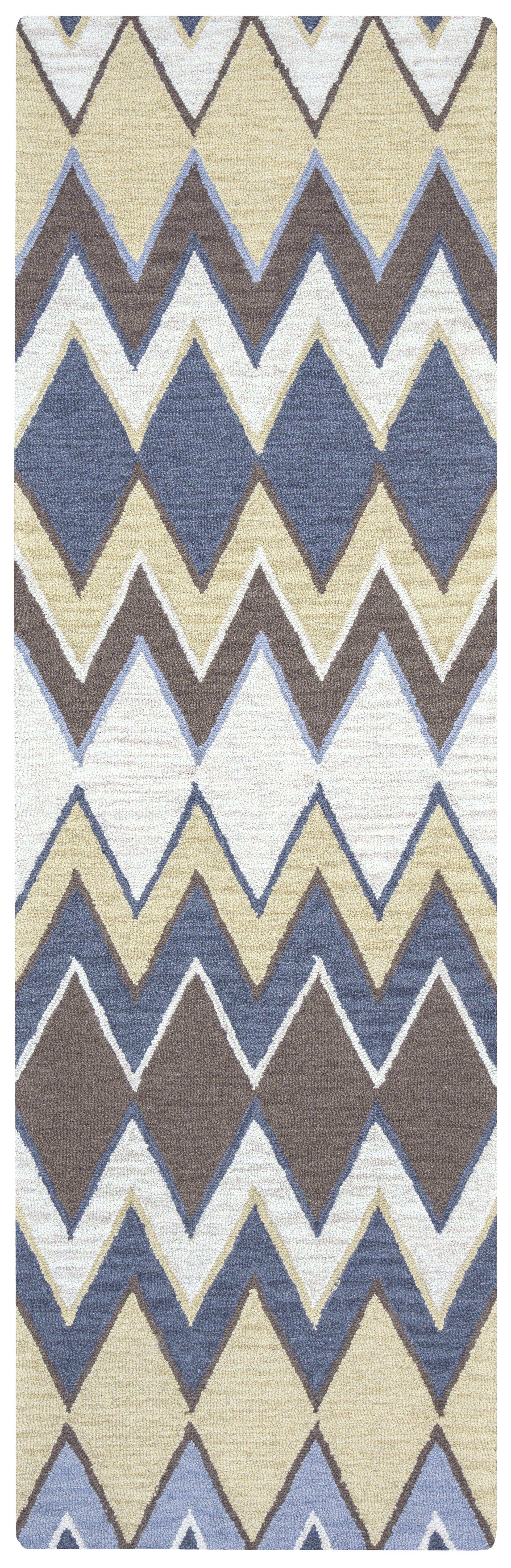 Eldora Hand-Tufted Light Gray Area Rug Rug Size: Rectangle 10' x 14'