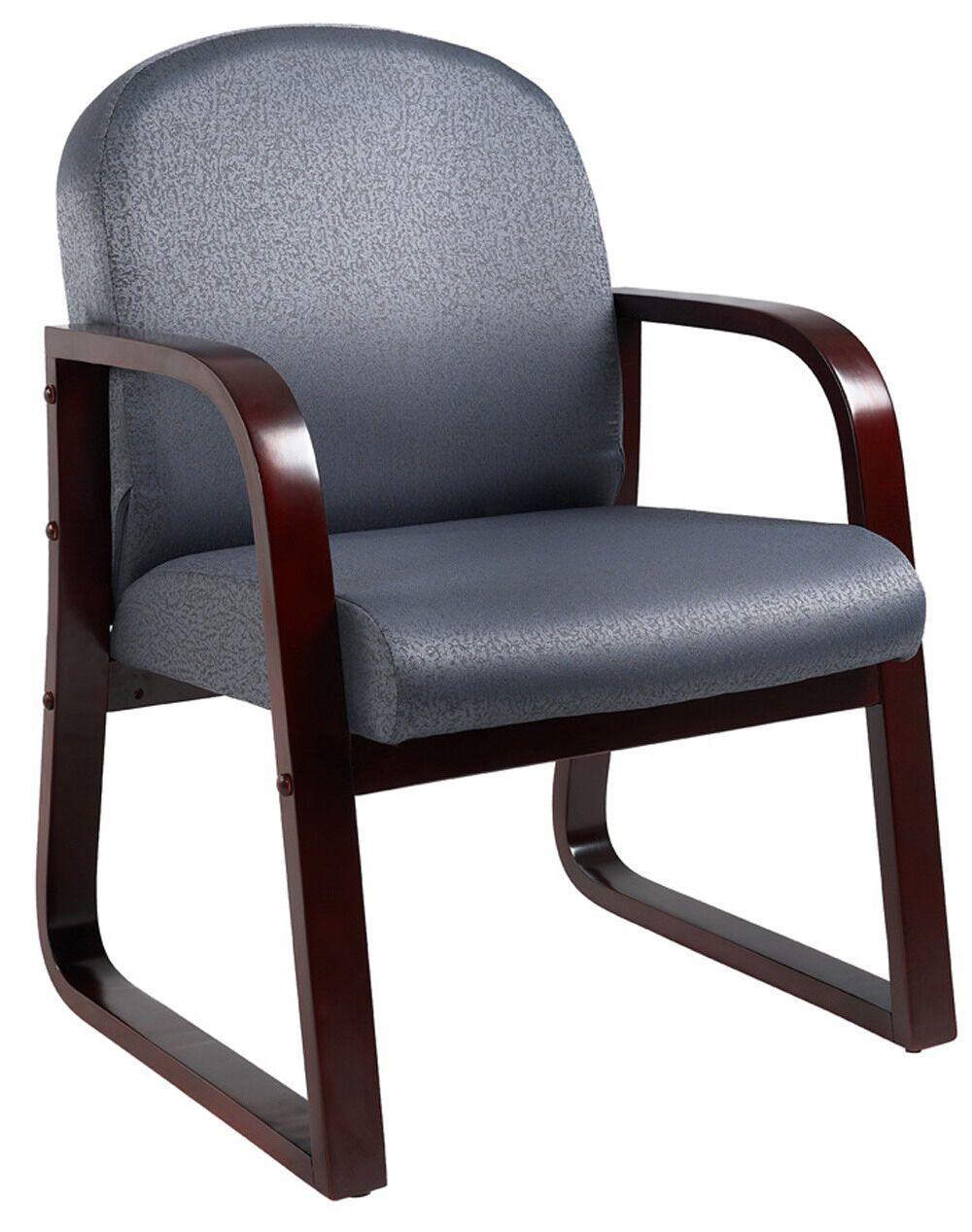 Kathi Reception Arm Chair Fabric: Gray, Finish: Mahogany