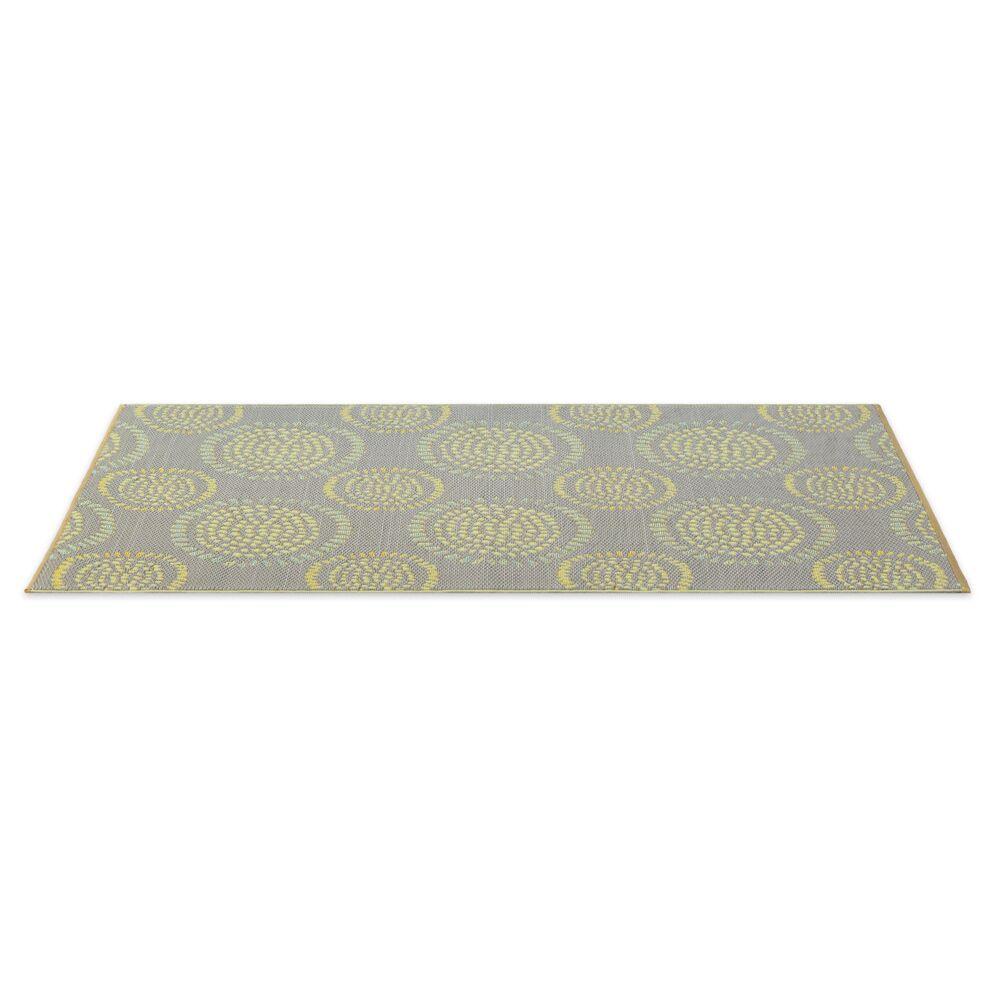 Calandre Reversible Hand-Woven Gray/Yellow Indoor/Outdoor Area Rug Rug Size: 5' x 8'