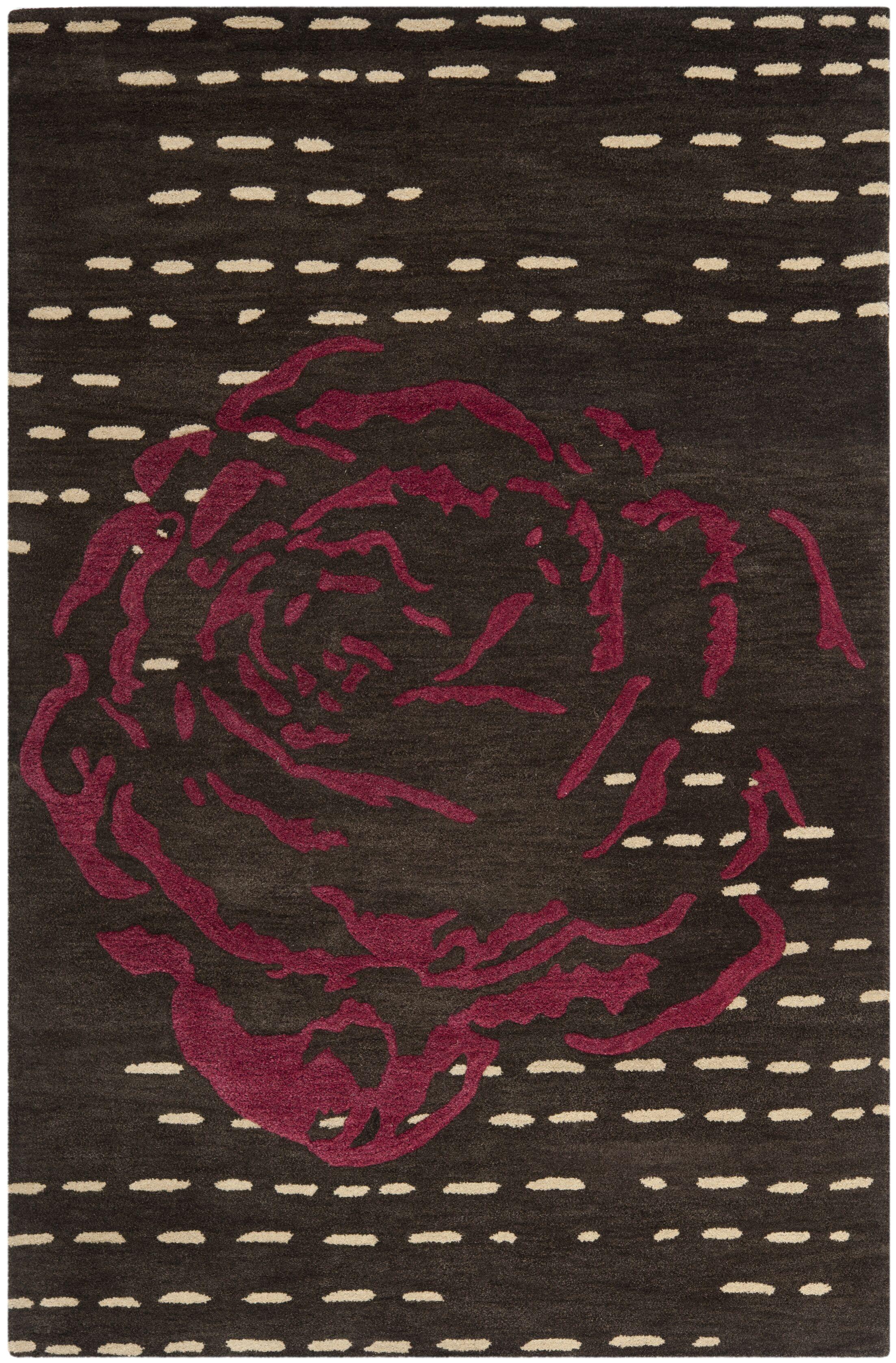 Demetra Charcoal Area Rug Rug Size: Rectangle 8' x 10'