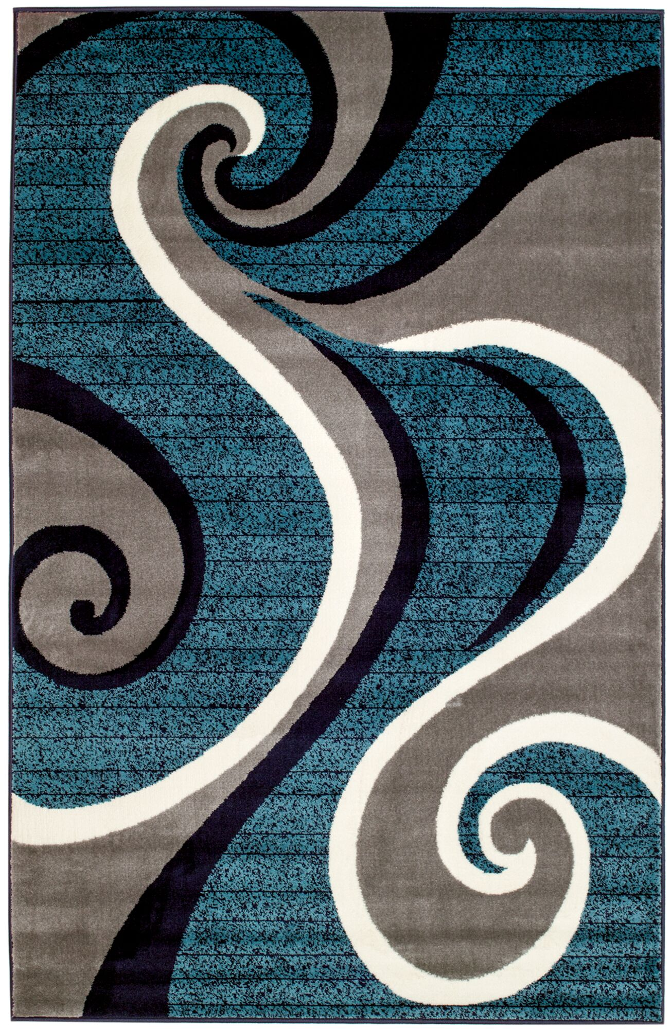 Rick Blue Area Rug Rug Size: Rectangle 9' x 12'