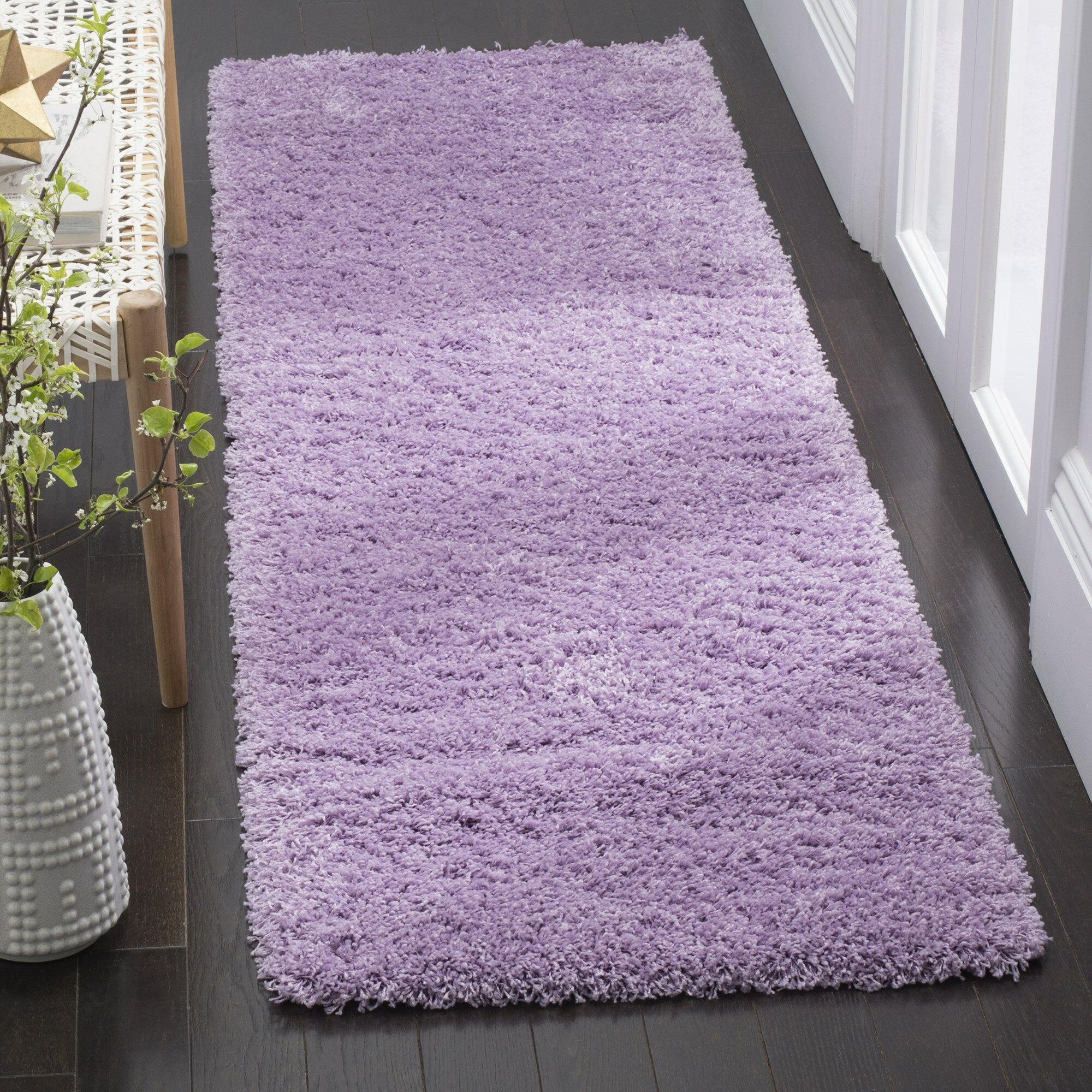 Collin Purple Area Rug Rug Size: Rectangle 4' x 6'