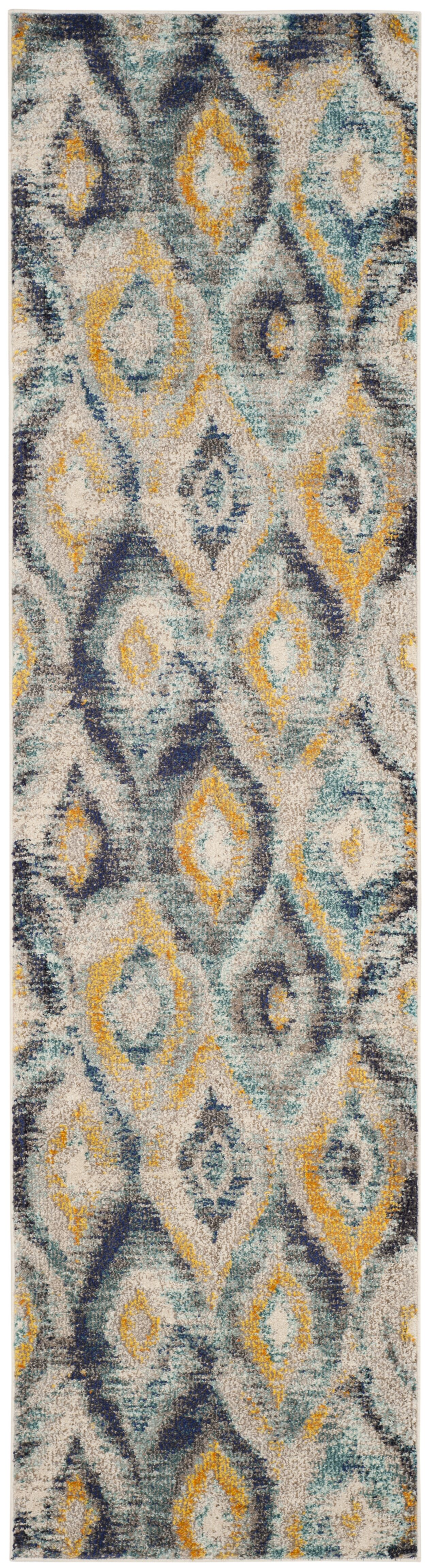 Theresa Blue Area Rug Rug Size: Runner 2'2