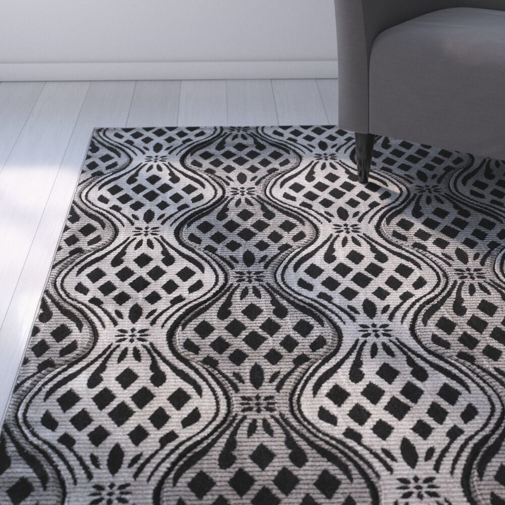 Cramden Grey Area Rug Rug Size: Rectangle 5' x 7'7