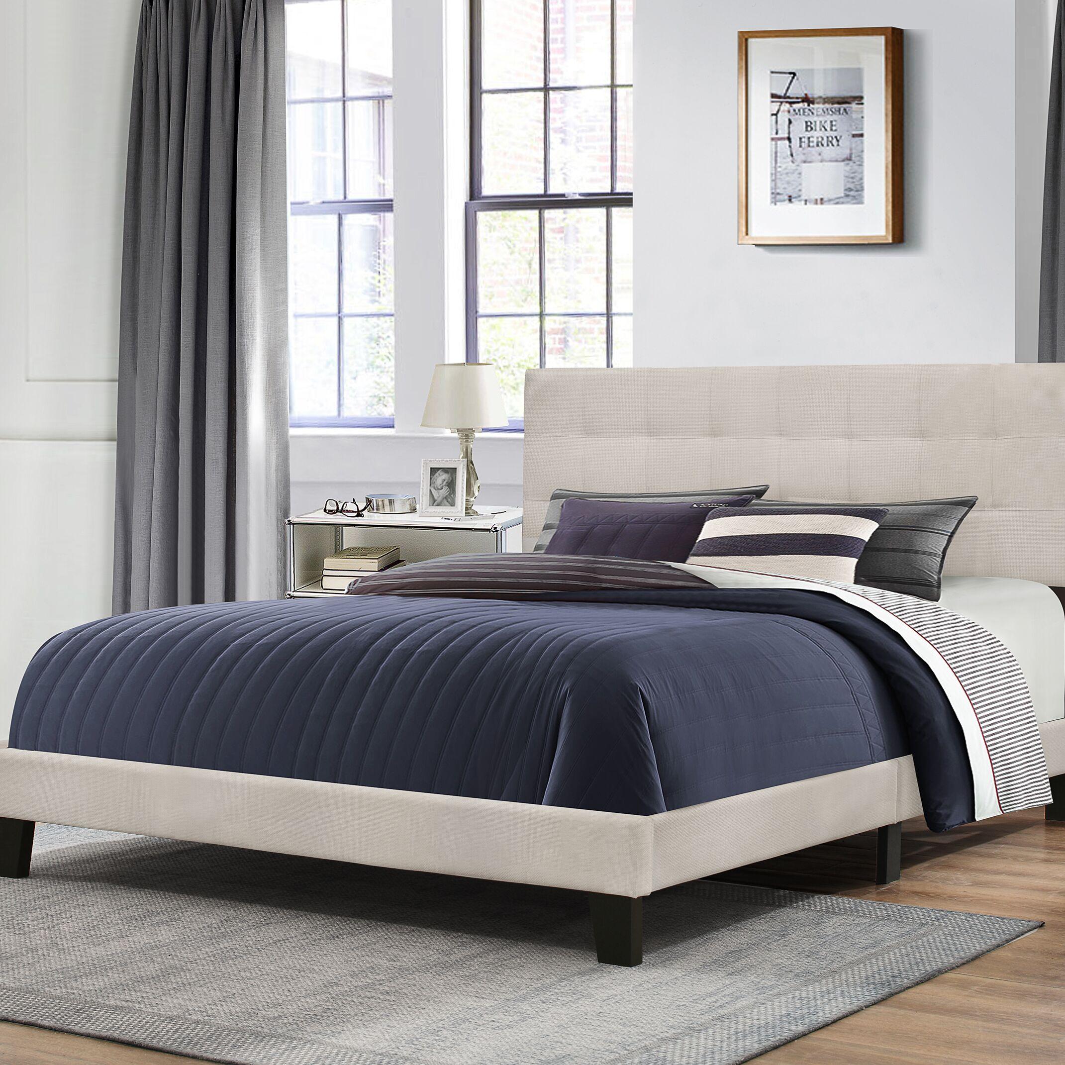 Decker Upholstered Panel Bed Size: Queen, Color: Fog