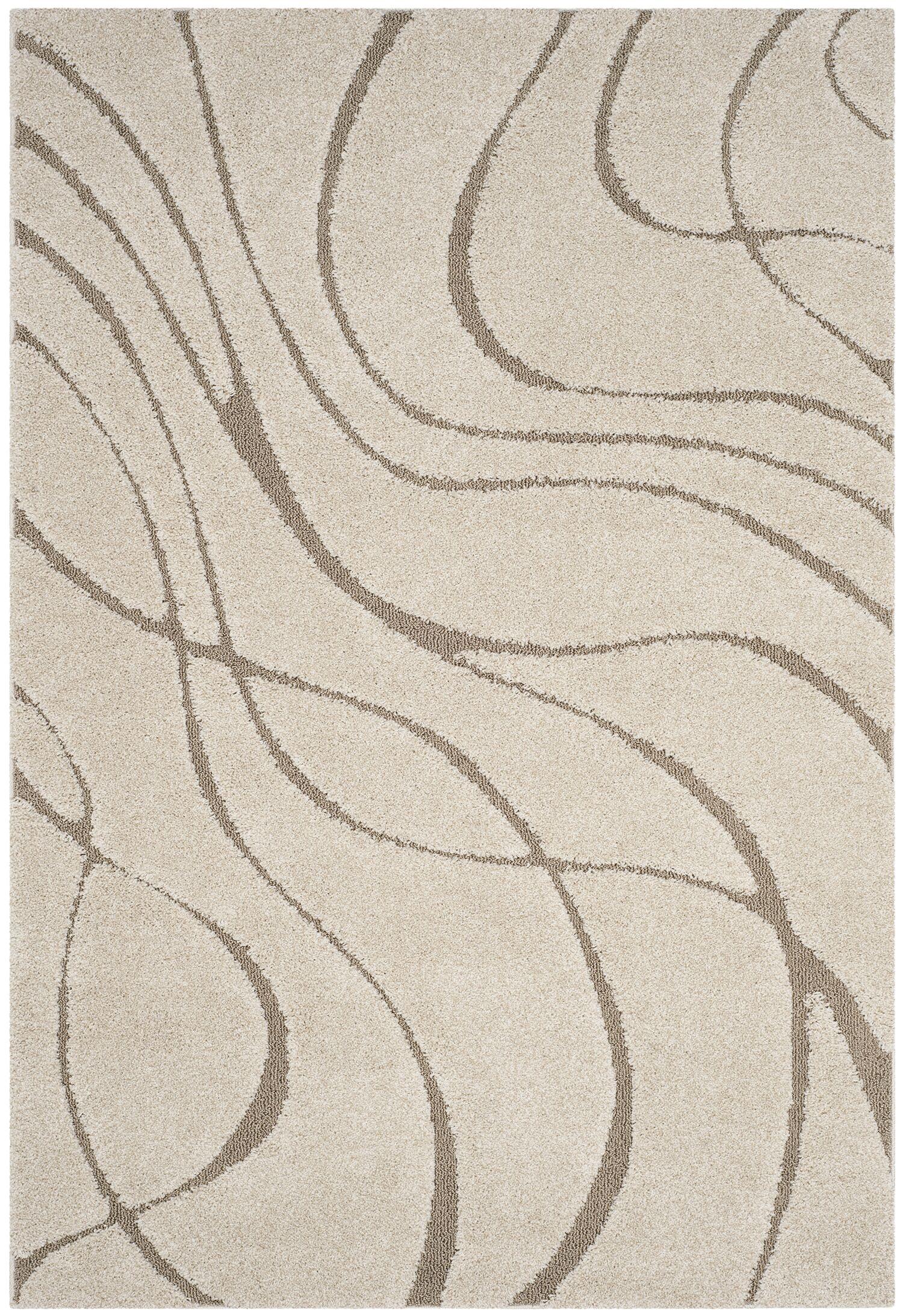 Enrique Cream/Beige Area Rug Rug Size: Rectangle 9'6