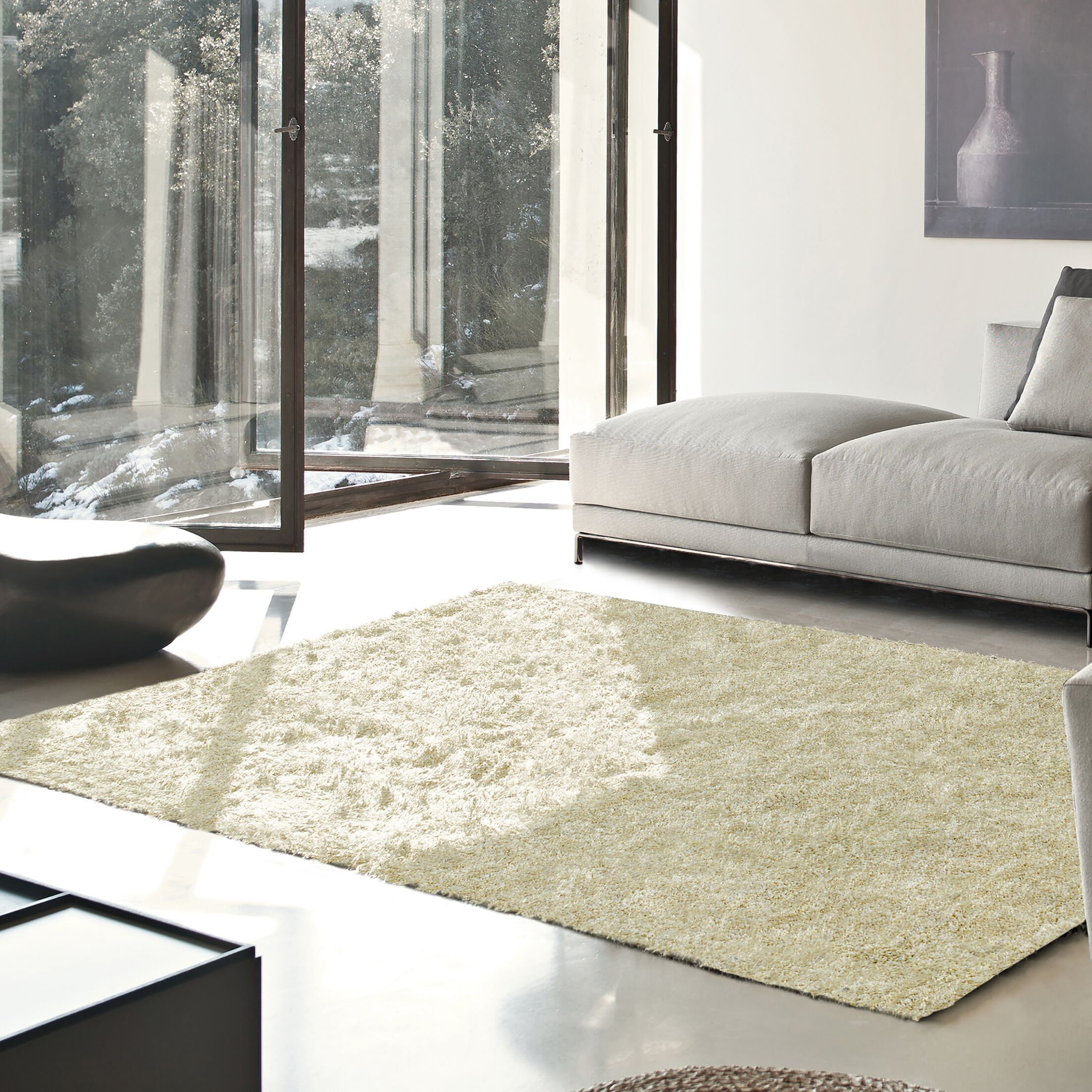 Catharine Hand-Woven Ivory Area Rug Rug Size: Rectangle 6' x 9'