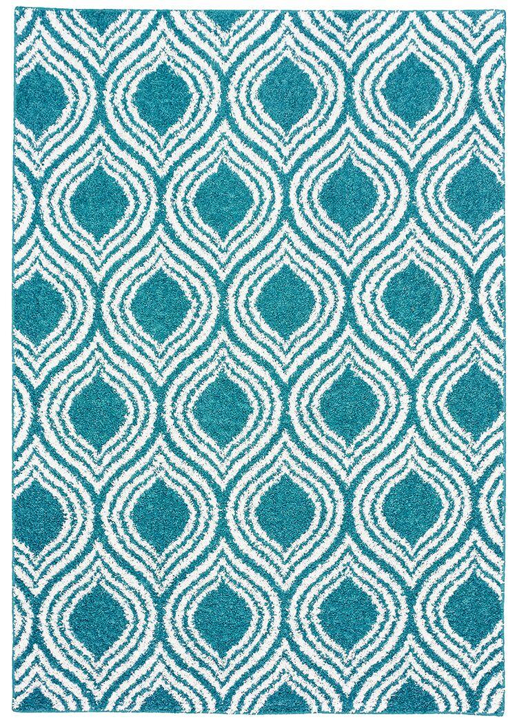 Nannie Blue Area Rug Rug Size: 5' x 7'