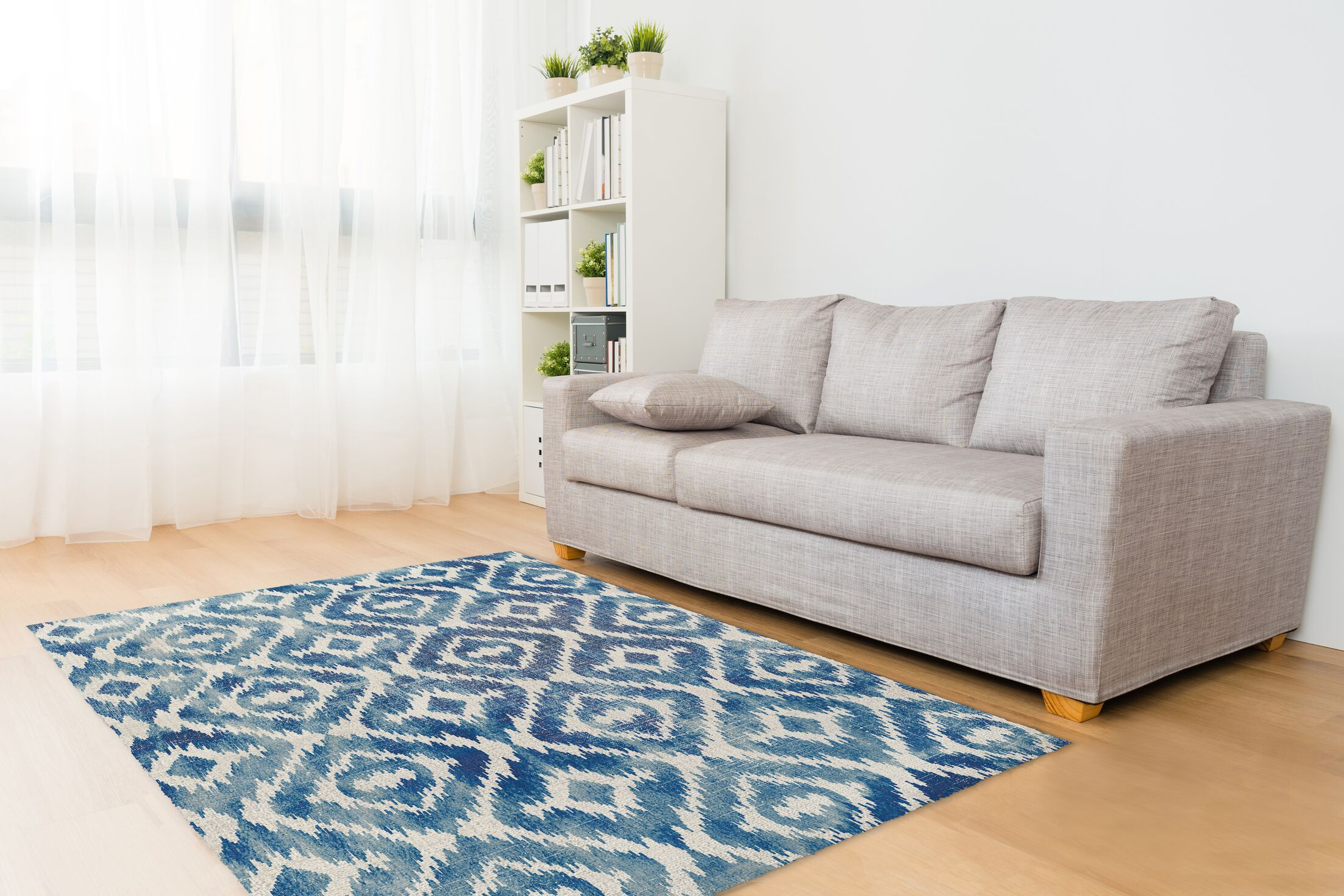 Laplant Blue Area Rug Rug Size: 3' x 5'