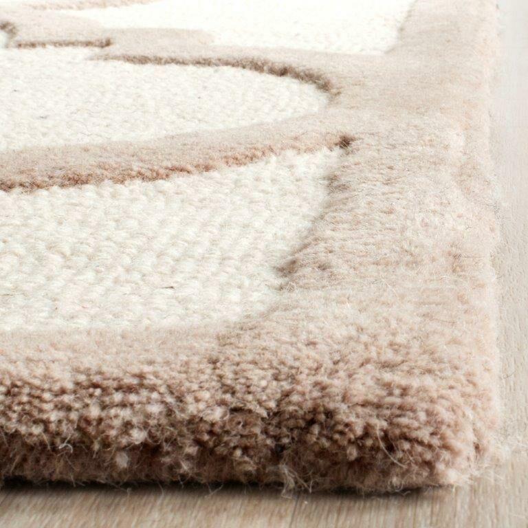 Charlenne Hand-Tufted Wool Ivory/Beige Area Rug Rug Size: Rectangle 5' x 8'