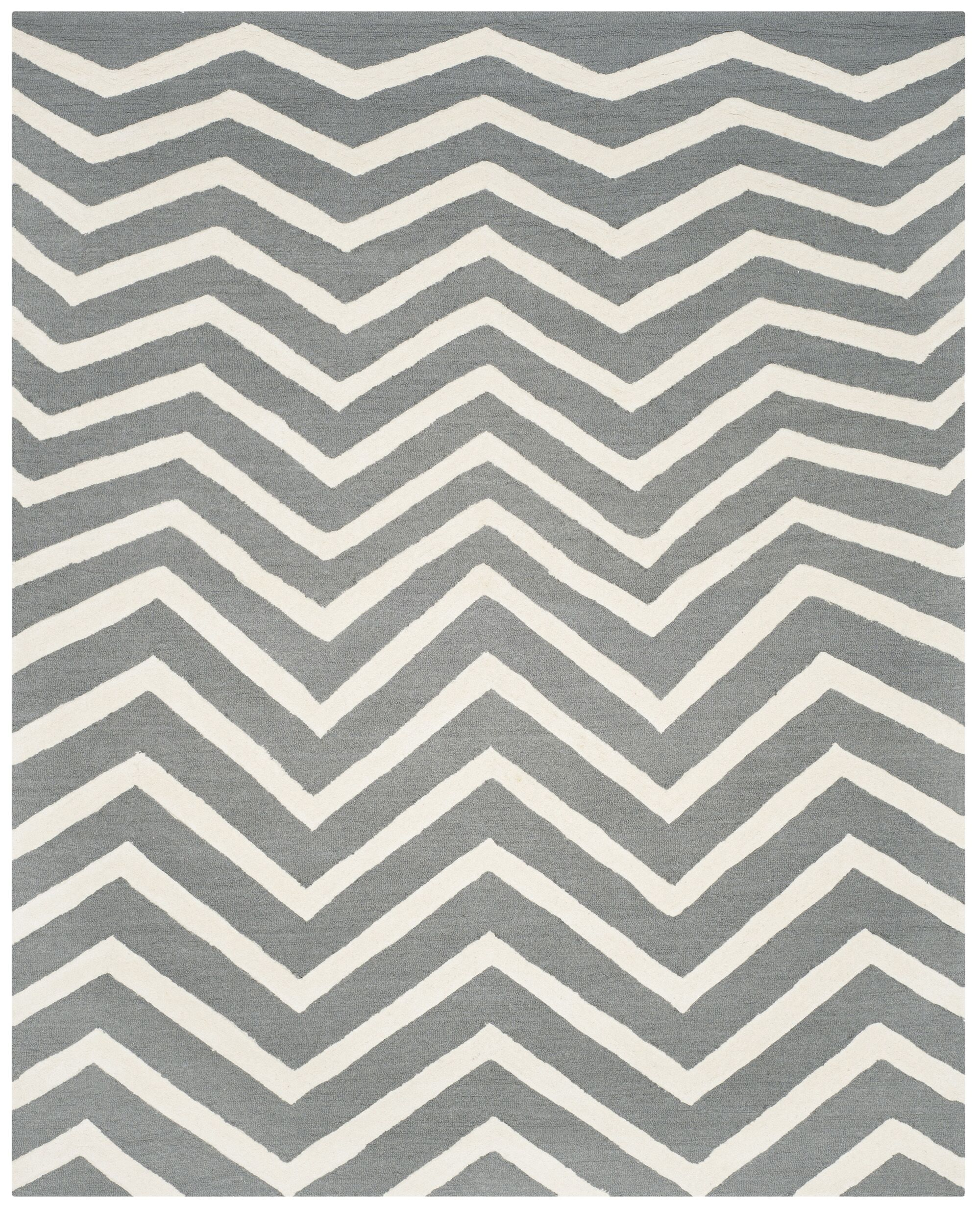 Charlenne Dark Gray Area Rug Rug Size: Rectangle 8' x 10'