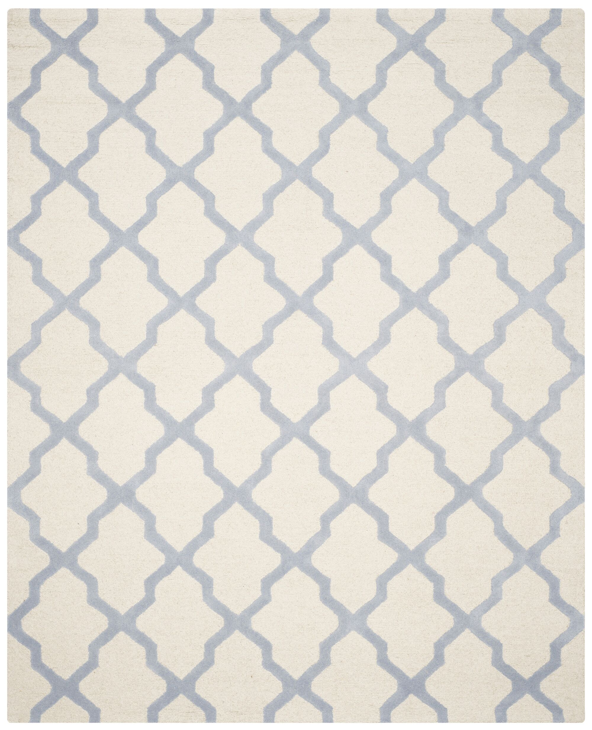 Charlenne Hand-Tufted Ivory/Gray Area Rug Rug Size: Rectangle 8' x 10'