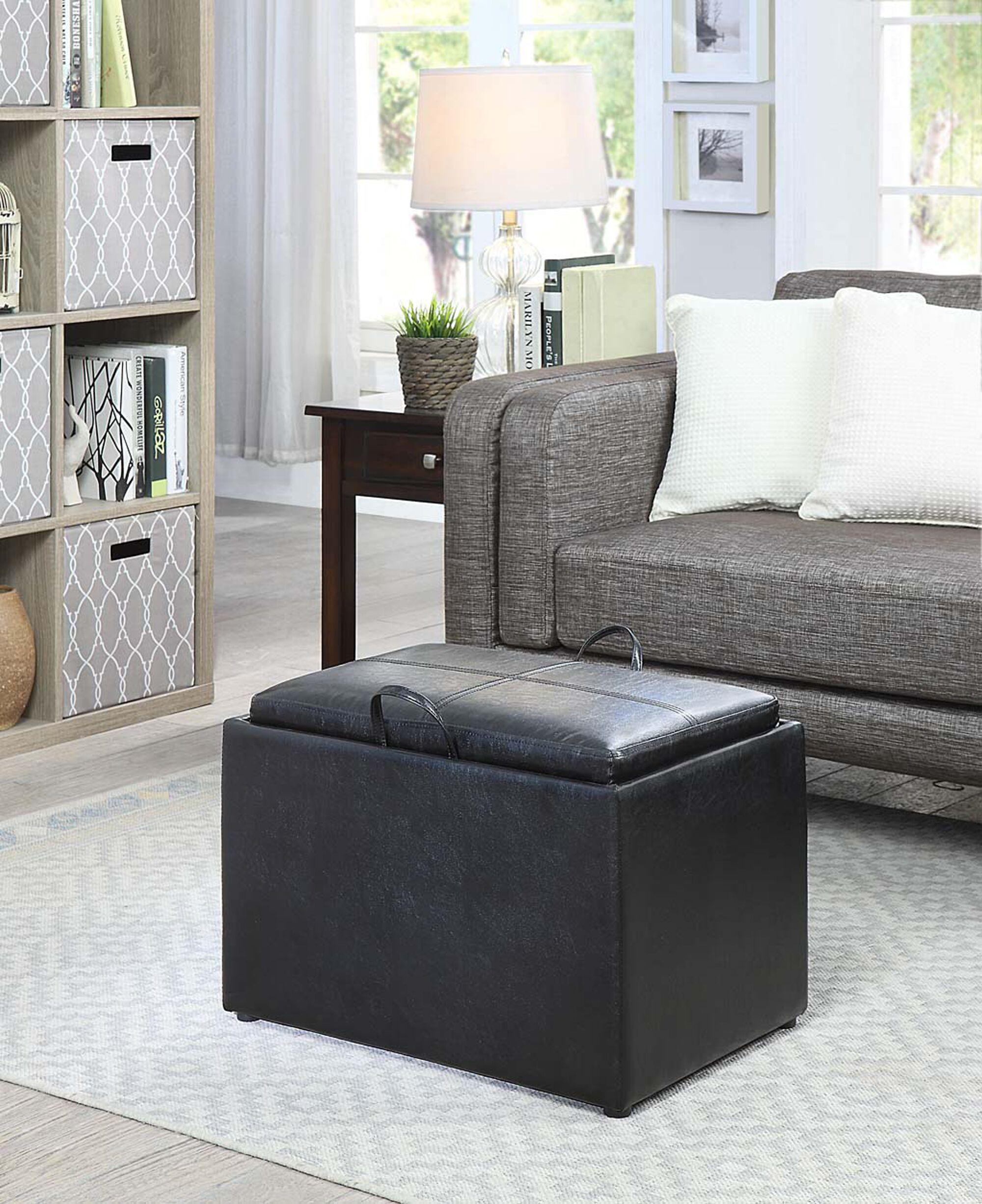 Hodnett Storage Ottoman Upholstery Color: Black