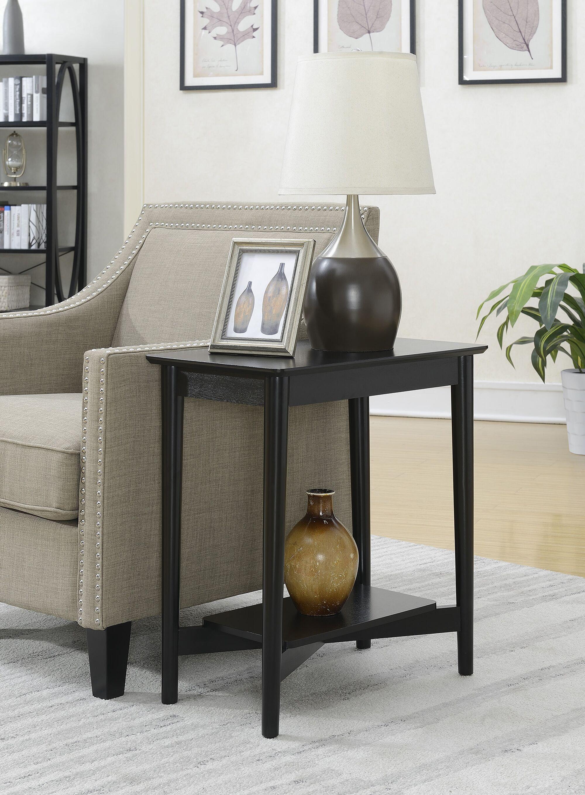 Ali Mid Century Chairside Table Color: Black